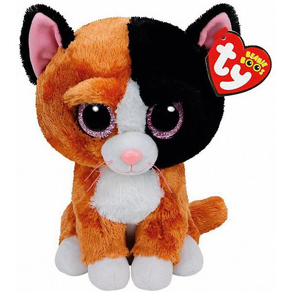 Мягкая игрушка Котенок Tauri, 15 см, Beanie Boos, TyМягкие игрушки животные<br>Мягкая игрушка Котенок Tauri, 15 см, Beanie Boos, Ty (Тай)<br><br>Характеристики:<br><br>• мягкая игрушка приятна на ощупь<br>• способствует развитию мелкой моторики и тактильных навыков<br>• безопасна для ребенка<br>• размер игрушки: 15 см<br>• материал: текстиль, искусственный мех, пластик<br><br>Малыш Tauri очень любит играть и веселиться. Ваш ребенок обязательно сможет придумать для него интересную игру или даже захватывающие приключения. Котенок очень мягкий и приятный на ощупь. А его выразительные глаза, разноцветная шерстка и милая улыбка порадуют и детей, и взрослых! Игрушка изготовлена из безопасных для ребенка материалов. Способствует развитию моторики руки, речевых и тактильных навыков.<br><br>Мягкую игрушку Котенок Tauri, 15 см, Beanie Boos, Ty (Тай) можно купить в нашем интернет-магазине.<br><br>Ширина мм: 138<br>Глубина мм: 106<br>Высота мм: 93<br>Вес г: 85<br>Возраст от месяцев: 12<br>Возраст до месяцев: 60<br>Пол: Женский<br>Возраст: Детский<br>SKU: 4386723