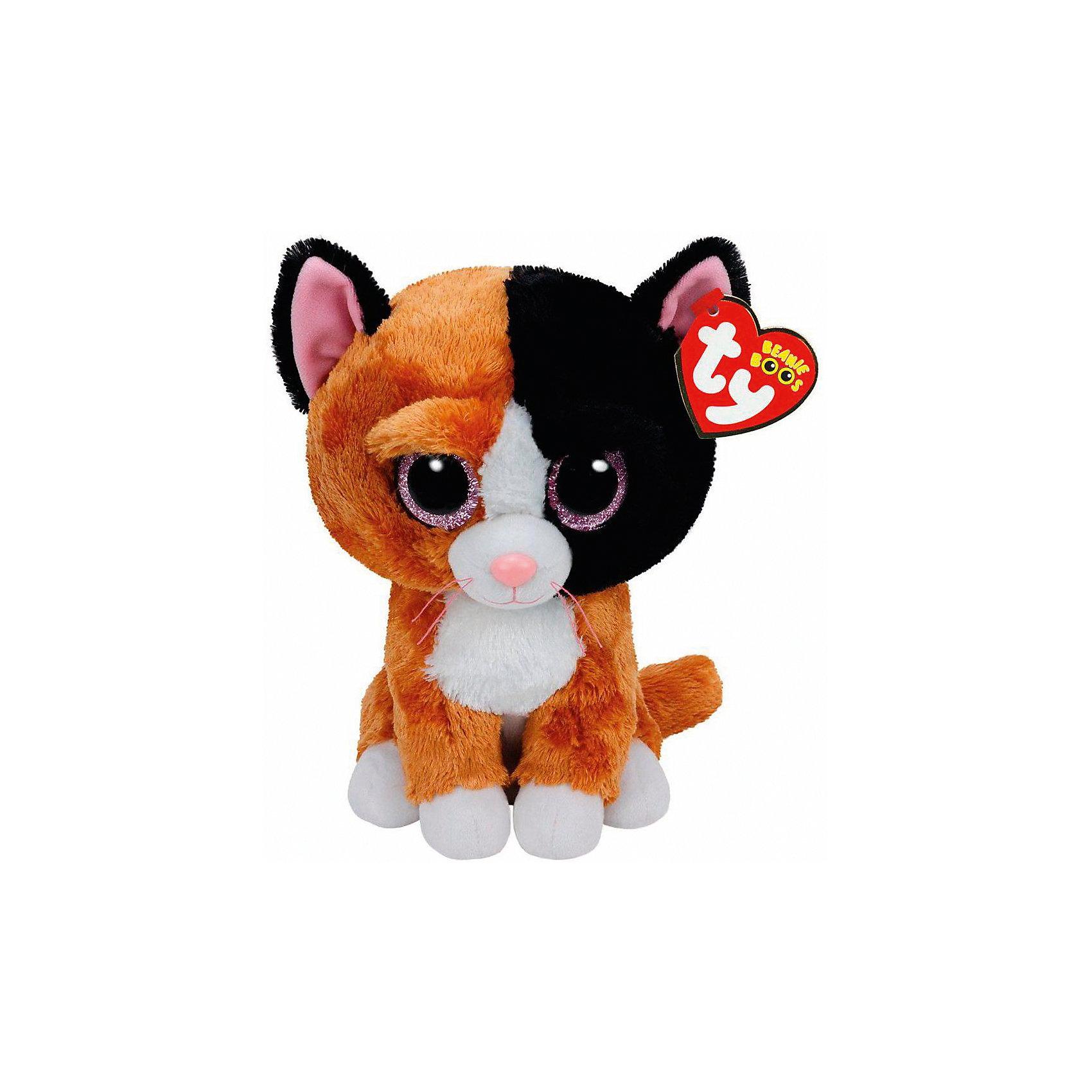 Мягкая игрушка Котенок Tauri, 15 см, Beanie Boos, TyКошки и собаки<br>Мягкая игрушка Котенок Tauri, 15 см, Beanie Boos, Ty (Тай)<br><br>Характеристики:<br><br>• мягкая игрушка приятна на ощупь<br>• способствует развитию мелкой моторики и тактильных навыков<br>• безопасна для ребенка<br>• размер игрушки: 15 см<br>• материал: текстиль, искусственный мех, пластик<br><br>Малыш Tauri очень любит играть и веселиться. Ваш ребенок обязательно сможет придумать для него интересную игру или даже захватывающие приключения. Котенок очень мягкий и приятный на ощупь. А его выразительные глаза, разноцветная шерстка и милая улыбка порадуют и детей, и взрослых! Игрушка изготовлена из безопасных для ребенка материалов. Способствует развитию моторики руки, речевых и тактильных навыков.<br><br>Мягкую игрушку Котенок Tauri, 15 см, Beanie Boos, Ty (Тай) можно купить в нашем интернет-магазине.<br><br>Ширина мм: 147<br>Глубина мм: 99<br>Высота мм: 85<br>Вес г: 90<br>Возраст от месяцев: 12<br>Возраст до месяцев: 60<br>Пол: Женский<br>Возраст: Детский<br>SKU: 4386723