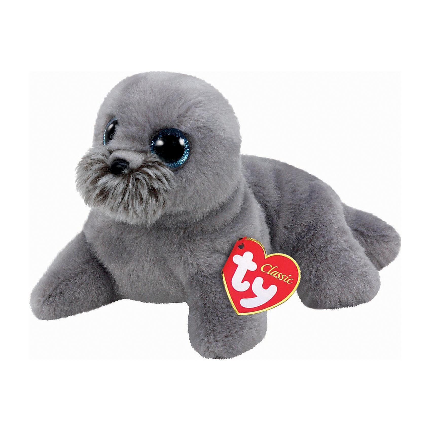 Мягкая игрушка Морской лев (серый) Wiggy, 33 см, Classic, TyМягкие игрушки животные<br>Мягкая игрушка Морской лев (серый) Wiggy, 33 см, Classic, Ty (Тай)<br><br>Характеристики:<br><br>• способствует развитию мелкой моторики<br>• приятный на ощупь<br>• размер игрушки: 33 см<br>• не содержит токсичных материалов, опасных для здоровья ребёнка<br>• материал: текстиль, искусственный мех, пластик <br>• наполнитель: синтепон<br><br>Мягкий морской лев Wiggy - обладатель невероятно выразительного взгляда. Радужная оболочка его глаз покрыта блестками, красиво переливающимися при свете. Игрушка очень мягкая и качественная. Она изготовлена из материалов, которые полностью безопасны для детей. Способствует развитию мелкой моторики, речевых и тактильных навыков.<br><br>Мягкую игрушку Морской лев (серый) Wiggy, 33 см, Classic, Ty (Тай) можно купить в нашем интернет-магазине.<br><br>Ширина мм: 256<br>Глубина мм: 142<br>Высота мм: 172<br>Вес г: 187<br>Возраст от месяцев: 12<br>Возраст до месяцев: 60<br>Пол: Унисекс<br>Возраст: Детский<br>SKU: 4386731