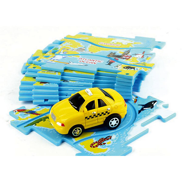 Игровой набор Такси Puzzle PilotАвтотреки<br>Игровой набор Такси Puzzle Pilot – это динамичная игра, совмещающая в себе элементы пазла, головоломки и железной дороги.<br>Игровой набор Такси Puzzle Pilot – это игра, в которой ребенок из плиток-пазлов с треками различных форм сможет собирать разнообразные варианты маршрута, по которому помчится такси! Набор позволяет составлять около 50-ти различных маршрутов движения. Машина движется исключительно по заданной траектории, однако малышу придется соблюдать требования ограничительных дорожных знаков, которые встретятся на ее пути. Ключевая задача ребенка, состоит в том, чтобы автомобиль проехал по игровому полю, преодолев все препятствия и не нарушив требований знаков. Вы можете упростить или усложнить игру в зависимости от возраста малыша. Импровизируйте с декорациями, задачами и мотивацией ребенка – и тогда эта игра станет еще более интересной. Игра развивают внимание, логику, воображение, мелкую моторику пальцев рук, что благотворно влияет на речь ребенка, а также крупную моторику. Все комплекты Puzzle Pilot совместимы. Это позволит вам создать огромное количество различных вариаций маршрутов и задействовать в игре одновременно много автомобильчиков.<br><br>Дополнительная информация:<br><br>-В наборе: игровое поле из 8 пазлов, дорожные знаки 6 шт, автомобиль<br>- Размер пазла: 12х х12 см.<br>- Материал: пластмасса<br>- Батарейки: 1 типа ААА (входят в комплект)<br>- Размер упаковки: 29,5 x 4 x 22 см.<br>- Вес: 435 гр.<br><br>Игровой набор Такси Puzzle Pilot можно купить в нашем интернет-магазине.<br><br>Ширина мм: 295<br>Глубина мм: 220<br>Высота мм: 40<br>Вес г: 435<br>Возраст от месяцев: 36<br>Возраст до месяцев: 96<br>Пол: Унисекс<br>Возраст: Детский<br>SKU: 4387466