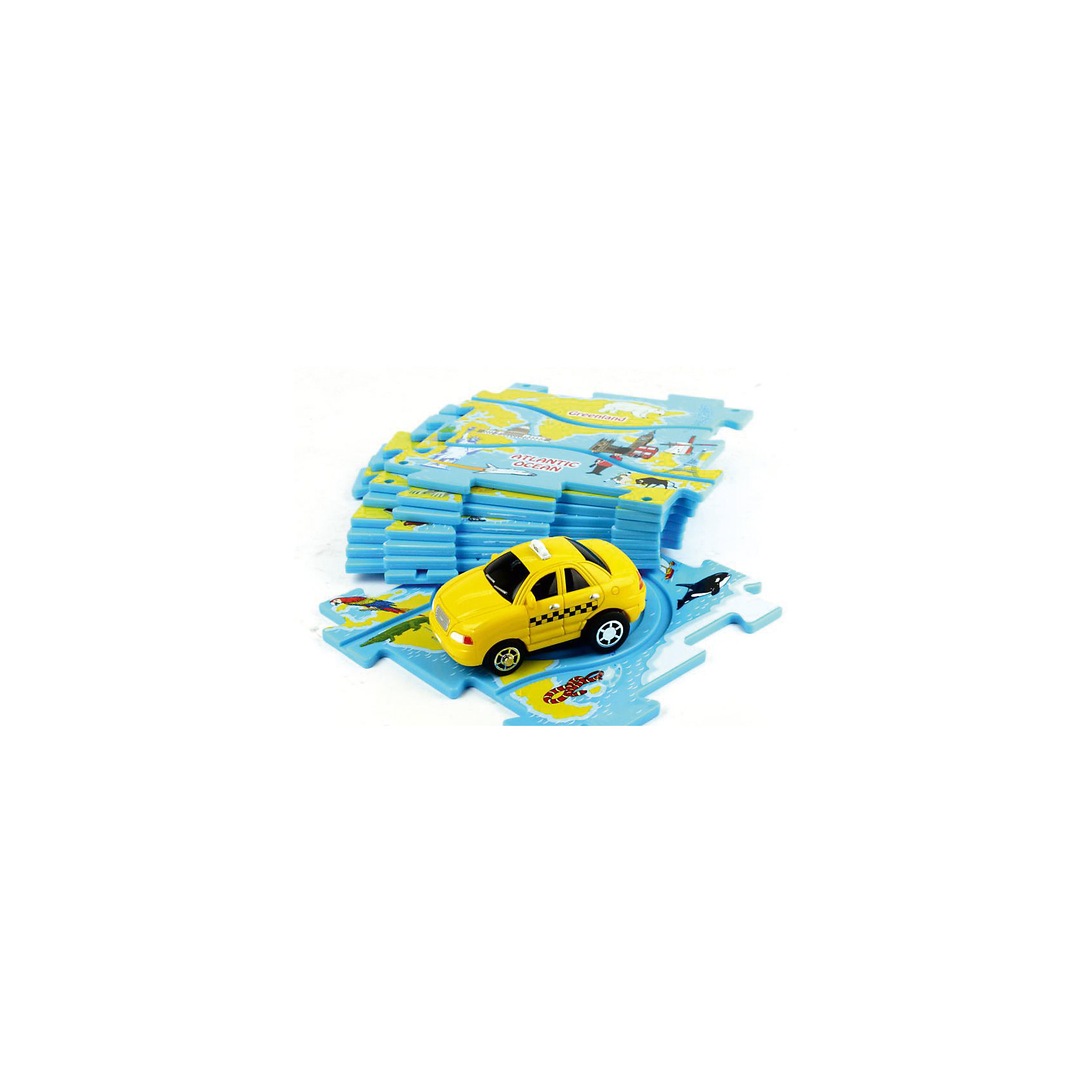 Игровой набор Такси Puzzle PilotИгровой набор Такси Puzzle Pilot – это динамичная игра, совмещающая в себе элементы пазла, головоломки и железной дороги.<br>Игровой набор Такси Puzzle Pilot – это игра, в которой ребенок из плиток-пазлов с треками различных форм сможет собирать разнообразные варианты маршрута, по которому помчится такси! Набор позволяет составлять около 50-ти различных маршрутов движения. Машина движется исключительно по заданной траектории, однако малышу придется соблюдать требования ограничительных дорожных знаков, которые встретятся на ее пути. Ключевая задача ребенка, состоит в том, чтобы автомобиль проехал по игровому полю, преодолев все препятствия и не нарушив требований знаков. Вы можете упростить или усложнить игру в зависимости от возраста малыша. Импровизируйте с декорациями, задачами и мотивацией ребенка – и тогда эта игра станет еще более интересной. Игра развивают внимание, логику, воображение, мелкую моторику пальцев рук, что благотворно влияет на речь ребенка, а также крупную моторику. Все комплекты Puzzle Pilot совместимы. Это позволит вам создать огромное количество различных вариаций маршрутов и задействовать в игре одновременно много автомобильчиков.<br><br>Дополнительная информация:<br><br>-В наборе: игровое поле из 8 пазлов, дорожные знаки 6 шт, автомобиль<br>- Размер пазла: 12х х12 см.<br>- Материал: пластмасса<br>- Батарейки: 1 типа ААА (входят в комплект)<br>- Размер упаковки: 29,5 x 4 x 22 см.<br>- Вес: 435 гр.<br><br>Игровой набор Такси Puzzle Pilot можно купить в нашем интернет-магазине.<br><br>Ширина мм: 295<br>Глубина мм: 220<br>Высота мм: 40<br>Вес г: 435<br>Возраст от месяцев: 36<br>Возраст до месяцев: 96<br>Пол: Унисекс<br>Возраст: Детский<br>SKU: 4387466
