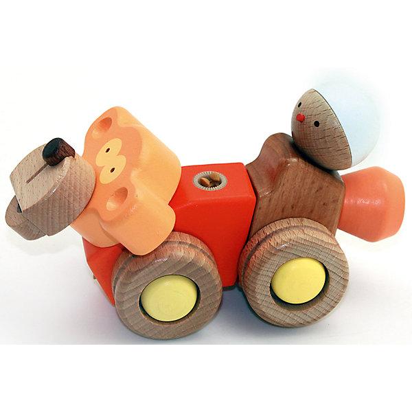 Деревянная игрушка Обезьяна, EQBМир животных<br>Деревянная игрушка Обезьяна, EQB – это деревянный конструктор, предназначенный для раннего развития малыша.<br>Конструктор EQB включает 12 крупных деревянных элементов, с помощью которых ребенок легко сможет собрать игрушку в виде обезьянки, и 2 элемента для сборки фигурки в виде человечка. Обезьянка оснащена четырьмя колесиками, благодаря чему малыш сможет катать игрушку. Фигурку в виде человечка можно закрепить на спине обезьяны. Главная особенность конструктора - оригинальное крепление clicknturn 360. Это крепление позволяет легко соединять детали и вращать их на 360 градусов. Детали изготовлены из твердых пород древесины, окрашены натуральными красителями вручную и обработаны растительными маслами для создания ровной и гладкой поверхности. Конструктор полностью безопасен для детей. Тренирует усидчивость, мелкую моторику руку и развивает навыки конструирования с раннего детства. В комплект входит текстильный мешочек, затягивающийся сверху на кулиску, в котором удобно хранить конструктор.<br><br>Дополнительная информация:<br><br>- В наборе: 14 деталей, мешочек, инструкция<br>- Размер готовой игрушки: 7,5 х 17 х 11,5 см.<br>- Материал: древесина<br>- Размер упаковки: 10 x 19,5 x 8,5 см.<br>- Вес: 280 гр.<br><br>Деревянную игрушку Обезьяна, EQB можно купить в нашем интернет-магазине.<br>Ширина мм: 100; Глубина мм: 195; Высота мм: 85; Вес г: 280; Возраст от месяцев: 36; Возраст до месяцев: 96; Пол: Унисекс; Возраст: Детский; SKU: 4387469;