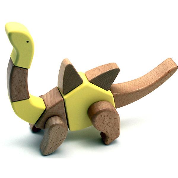 Деревянная игрушка Брахиозавр, EQBМир животных<br>Деревянная игрушка Брахиозавр, EQB – это деревянный конструктор, предназначенный для раннего развития малыша.<br>Конструктор EQB включает 16 крупных деревянных элементов, с помощью которых ребенок легко сможет собрать игрушку в виде Брахиозавра с подвижными конечностями. Из деталей набора можно собрать 6 различных моделей динозавров. Главная особенность конструктора - оригинальное крепление clicknturn 360. Это крепление позволяет легко соединять детали и вращать их на 360 градусов. Детали изготовлены из твердых пород древесины, окрашены натуральными красителями, вручную и обработаны растительными маслами для создания ровной и гладкой поверхности. Конструктор полностью безопасен для детей. Тренирует усидчивость, мелкую моторику руку и развивает навыки конструирования с раннего детства. В комплект входит текстильный мешочек, затягивающийся сверху на кулиску, в котором удобно хранить конструктор. Собрав, коллекцию из трех динозавров ребенку будет доступно 30 моделей для сборки.<br><br>Дополнительная информация:<br><br>- В наборе: 16 деталей, мешочек, 30 карточек с изображениями различных собранных динозавров, инструкция<br>- Материал: древесина<br>- Размер готовой игрушки: 7 х 27 х 14 см.<br>- Размер упаковки: 12,5 x 25,5 x 6,5 см.<br>- Вес: 400 гр.<br><br>Деревянную игрушку Брахиозавр, EQB можно купить в нашем интернет-магазине.<br><br>Ширина мм: 125<br>Глубина мм: 255<br>Высота мм: 65<br>Вес г: 400<br>Возраст от месяцев: 36<br>Возраст до месяцев: 96<br>Пол: Унисекс<br>Возраст: Детский<br>SKU: 4387470