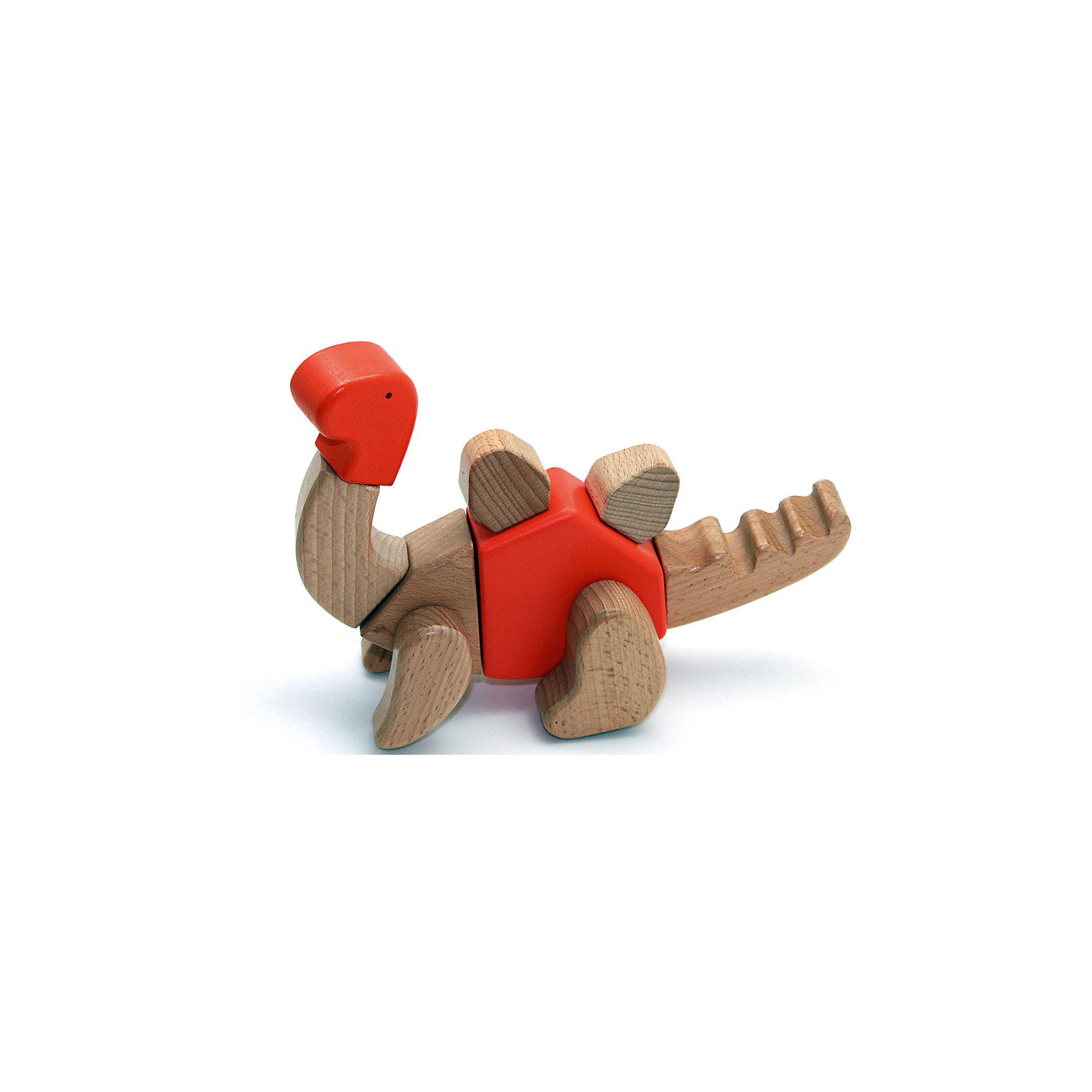 Деревянная игрушка Трицератопс, EQBДеревянные конструкторы<br>Деревянная игрушка Трицератопс, EQB – это деревянный конструктор, предназначенный для раннего развития малыша.<br>Конструктор EQB включает 16 крупных деревянных элементов, с помощью которых ребенок легко сможет собрать игрушку в виде Трицератопса с подвижными конечностями. Из деталей набора можно собрать 6 различных моделей динозавров. Главная особенность конструктора - оригинальное крепление clicknturn 360. Это крепление позволяет легко соединять детали и вращать их на 360 градусов. Детали изготовлены из твердых пород древесины, окрашены натуральными красителями, вручную и обработаны растительными маслами для создания ровной и гладкой поверхности. Конструктор полностью безопасен для детей. Тренирует усидчивость, мелкую моторику руку и развивает навыки конструирования с раннего детства. В комплект входит текстильный мешочек, затягивающийся сверху на кулиску, в котором удобно хранить конструктор. Собрав, коллекцию из трех динозавров ребенку будет доступно 30 моделей для сборки.<br><br>Дополнительная информация:<br><br>- В наборе: 16 деталей, мешочек, 30 карточек с изображениями различных собранных динозавров, инструкция<br>- Материал: древесина<br>- Размер готовой игрушки: 7 х 22 х 12 см.<br>- Размер упаковки: 12,5 x 25,5 x 6,5 см.<br>- Вес: 400 гр.<br><br>Деревянную игрушку Трицератопс, EQB можно купить в нашем интернет-магазине.<br><br>Ширина мм: 125<br>Глубина мм: 255<br>Высота мм: 65<br>Вес г: 400<br>Возраст от месяцев: 36<br>Возраст до месяцев: 96<br>Пол: Унисекс<br>Возраст: Детский<br>SKU: 4387471