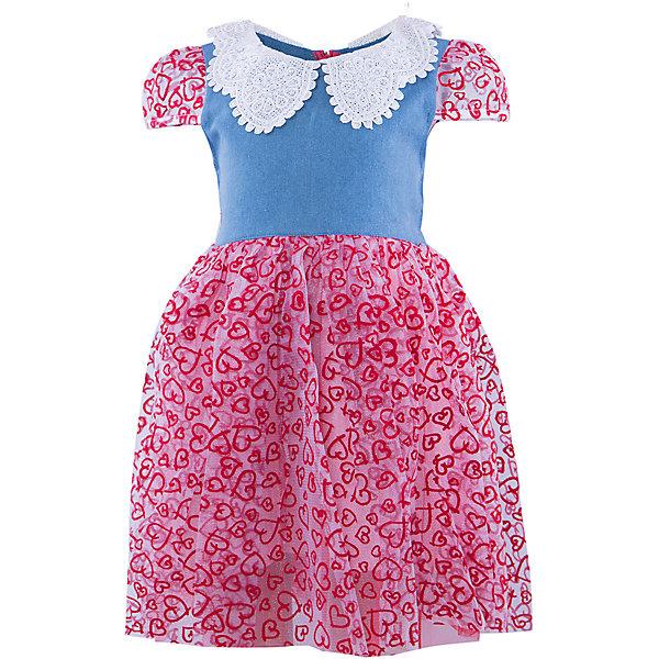 Платье ВенераОдежда<br>Нарядное платье для девочки. Верх выполнен из джинсы, украшен кружевным воротником со стразами. Юбка платья воздушная и невесомая, состоящая из трех подьюбников. Рукава платья выполнены из принтованной сетки, со вставными резиночками. Красивое нарядное платье для празника и повседневной носки.<br><br>Ширина мм: 236<br>Глубина мм: 16<br>Высота мм: 184<br>Вес г: 177<br>Цвет: красный<br>Возраст от месяцев: 36<br>Возраст до месяцев: 48<br>Пол: Женский<br>Возраст: Детский<br>Размер: 98/104,116/122,104/110,110/116<br>SKU: 4388978