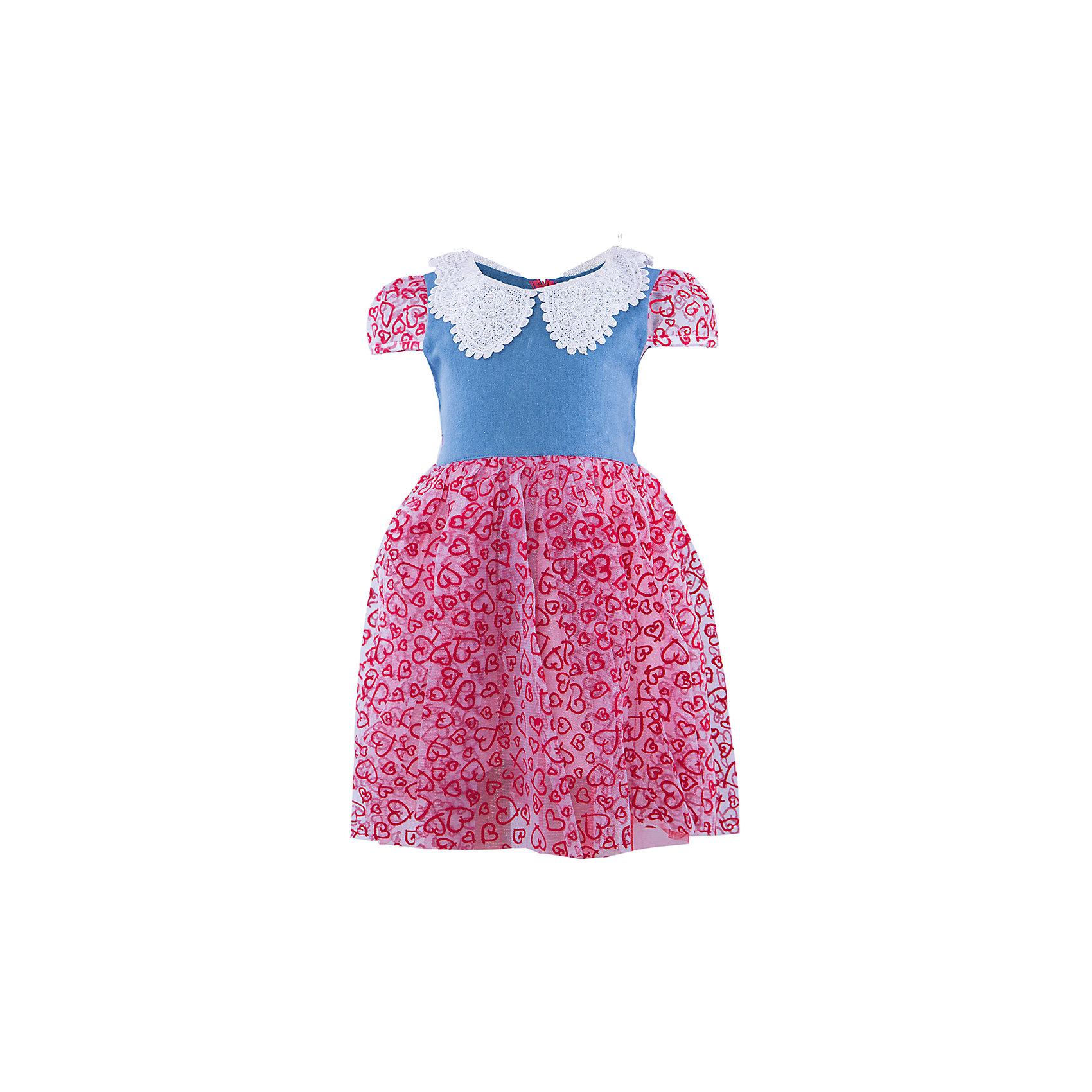 Платье ВенераНарядное платье для девочки. Верх выполнен из джинсы, украшен кружевным воротником со стразами. Юбка платья воздушная и невесомая, состоящая из трех подьюбников. Рукава платья выполнены из принтованной сетки, со вставными резиночками. Красивое нарядное платье для празника и повседневной носки.<br><br>Ширина мм: 236<br>Глубина мм: 16<br>Высота мм: 184<br>Вес г: 177<br>Цвет: красный<br>Возраст от месяцев: 48<br>Возраст до месяцев: 60<br>Пол: Женский<br>Возраст: Детский<br>Размер: 104/110,110/116,98/104,116/122<br>SKU: 4388978