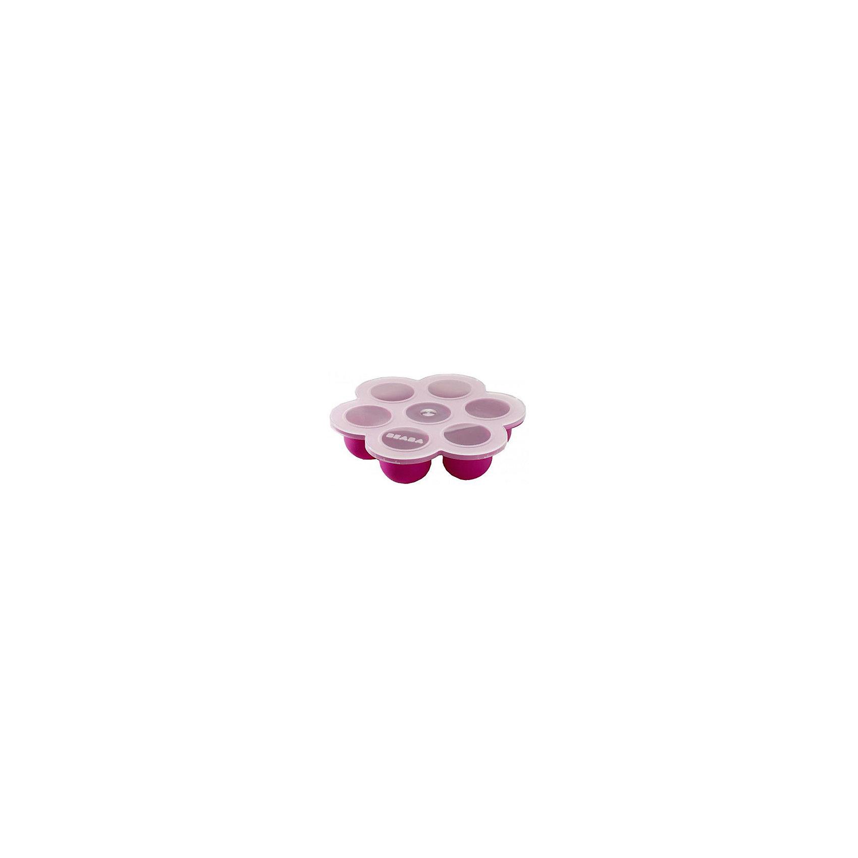 Силиконовый многопорционный контейнер, Beaba, розовыйСиликоновый многопорционный контейнер, Beaba, станет Вам замечательным помощником в уходе за малышом и прекрасно подойдет для хранения детского питания. Компактный контейнер содержит семь ячеек объемом 60 мл. каждая и позволяет хранить свежее смеси и пюре либо замораживать их в морозильной камере. Плотная герметичная крышка не пропускает посторонние запахи внутрь. Контейнер изготовлен из высококачественного мягкого силикона без содержания бисфенола А. Запрещено использование в духовом шкафу. <br><br>Дополнительная информация:<br><br>- Материал: силикон.<br>- Общий объем: 420 мл. (7 порций по 60 мл.) <br>- Размер контейнера: 21 х 21 см. <br>- Размер упаковки: 21,2 x 22,5 x 5,1 см.<br>- Вес: 0,32 кг.<br><br>Силиконовый многопорционный контейнер, Beaba, розовый, можно купить в нашем интернет-магазине.<br><br>Ширина мм: 212<br>Глубина мм: 225<br>Высота мм: 51<br>Вес г: 320<br>Возраст от месяцев: 4<br>Возраст до месяцев: 36<br>Пол: Женский<br>Возраст: Детский<br>SKU: 4389022