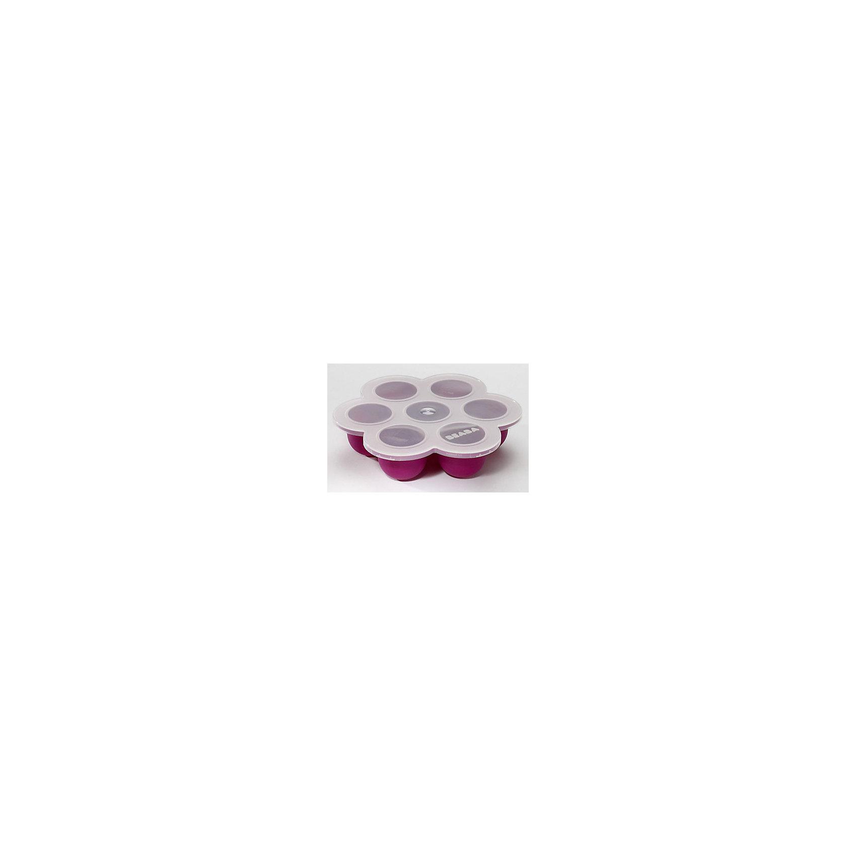 Силиконовый многопорционный контейнер SILICONE MULTI PORTIONS, Beaba, сливовыйСиликоновый контейнер Silicone Multi Portions, Beaba, станет Вам замечательным помощником в уходе за малышом и прекрасно подойдет для хранения детского питания. Компактный контейнер содержит семь ячеек объемом 60 мл. каждая и позволяет хранить свежее смеси и пюре либо замораживать их в морозильной камере. Плотная герметичная крышка не пропускает посторонние запахи внутрь. Контейнер изготовлен из высококачественного мягкого силикона без содержания бисфенола А. Можно замораживать, использовать в микроволновой печи, мыть в посудомоечной машине. Запрещено использование в духовом шкафу. <br><br>Дополнительная информация:<br><br>- Материал: силикон.<br>- Общий объем: 420 мл. (7 порций по 60 мл.) <br>- Размер контейнера: ширина - 21 см., высота - 5 см. <br>- Размер упаковки: 21,2 x 22,5 x 5,1 см.<br>- Вес: 0,32 кг.<br><br>Силиконовый многопорционный контейнер Silicone Multi Portions, Beaba, сливовый, можно купить в нашем интернет-магазине.<br><br>Ширина мм: 212<br>Глубина мм: 225<br>Высота мм: 51<br>Вес г: 320<br>Возраст от месяцев: 4<br>Возраст до месяцев: 36<br>Пол: Унисекс<br>Возраст: Детский<br>SKU: 4389024