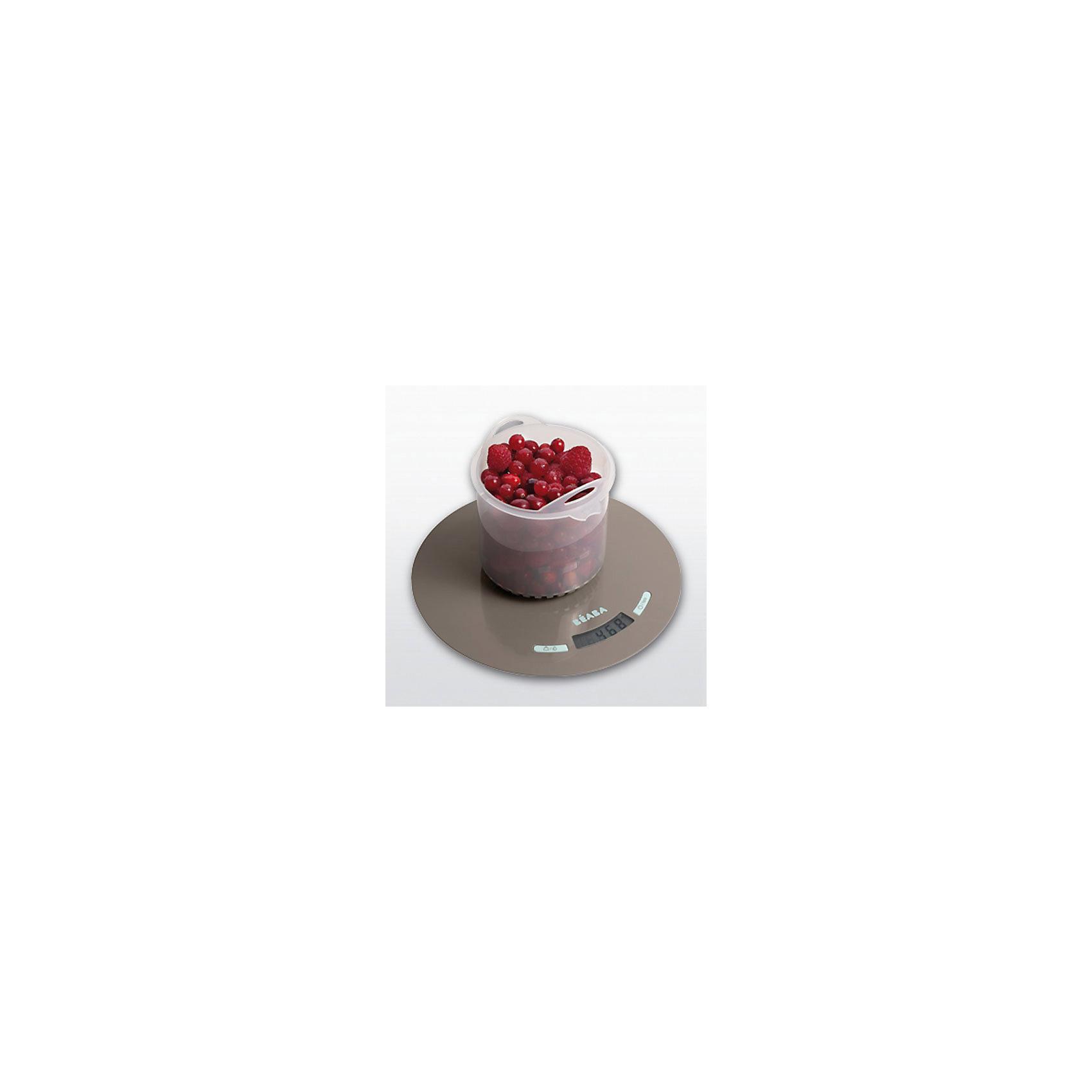 Весы кухонные BABYCOOK SCALE, Beaba, голубойВесы кухонные<br>Кухонные весы Babycook Scale, Beaba, станут Вам отличным помощником на кухне и помогут точно рассчитывать все ингредиенты для приготовления детских блюд. Весы просты в использовании, занимают мало места и сочетает в себе функциональность и стильный современный дизайн. Измеряют вес в граммах для твердой пищи и в миллилитрах для жидкости. Весы оснащены такими удобными функциями как тара (позволяет определить вес продуктов без тары), возвращение к 0, функция запоминания веса, автоматическое отключение. Общий вес не может превышать 5 кг.<br><br>Дополнительная информация:<br><br>- Материал: пластик.<br>- Требуются батарейки: 2 х CR2032 (входят в комплект).<br>- Выпуск: от 1 гр. до 5 кг.<br>- Размер весов: 23 x 23 x 2 см.<br>- Размер упаковки: 19,5 x 22 x 5,5 см.<br>- Вес: 0,42 кг.<br><br>Весы кухонные Babycook Scale, Beaba, голубой, можно купить в нашем интернет-магазине.<br><br>Ширина мм: 195<br>Глубина мм: 220<br>Высота мм: 55<br>Вес г: 420<br>Возраст от месяцев: 4<br>Возраст до месяцев: 36<br>Пол: Унисекс<br>Возраст: Детский<br>SKU: 4389026