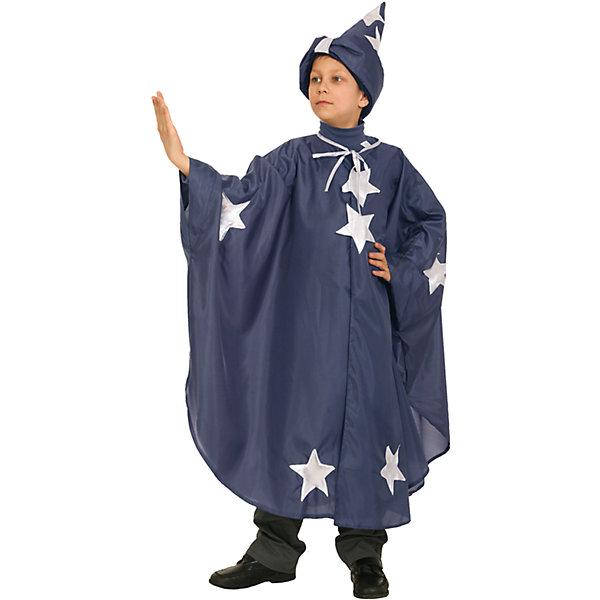 Карнавальный костюм для мальчика Звездочет, ВестификаКарнавальные костюмы для мальчиков<br>Характеристики товара:<br><br>• цвет: синий<br>• комплектация: колпак, плащ<br>• материал: текстиль<br>• сезон: круглый год<br>• особенности модели: для праздника<br>• страна бренда: Россия<br>• страна изготовитель: Россия<br><br>Карнавальный наряд для ребенка состоит из нескольких предметов, которые позволят создать целостный образ. Детский карнавальный костюм Звездочет выглядит оригинально и нарядно. Детский костюм комфортно сидит на ребенке благодаря качественному материалу.<br><br>Карнавальный костюм «Звездочет» Вестифика для мальчика можно купить в нашем интернет-магазине.<br><br>Ширина мм: 236<br>Глубина мм: 16<br>Высота мм: 184<br>Вес г: 150<br>Цвет: белый<br>Возраст от месяцев: 96<br>Возраст до месяцев: 108<br>Пол: Мужской<br>Возраст: Детский<br>Размер: 128/134,116/122<br>SKU: 4389242