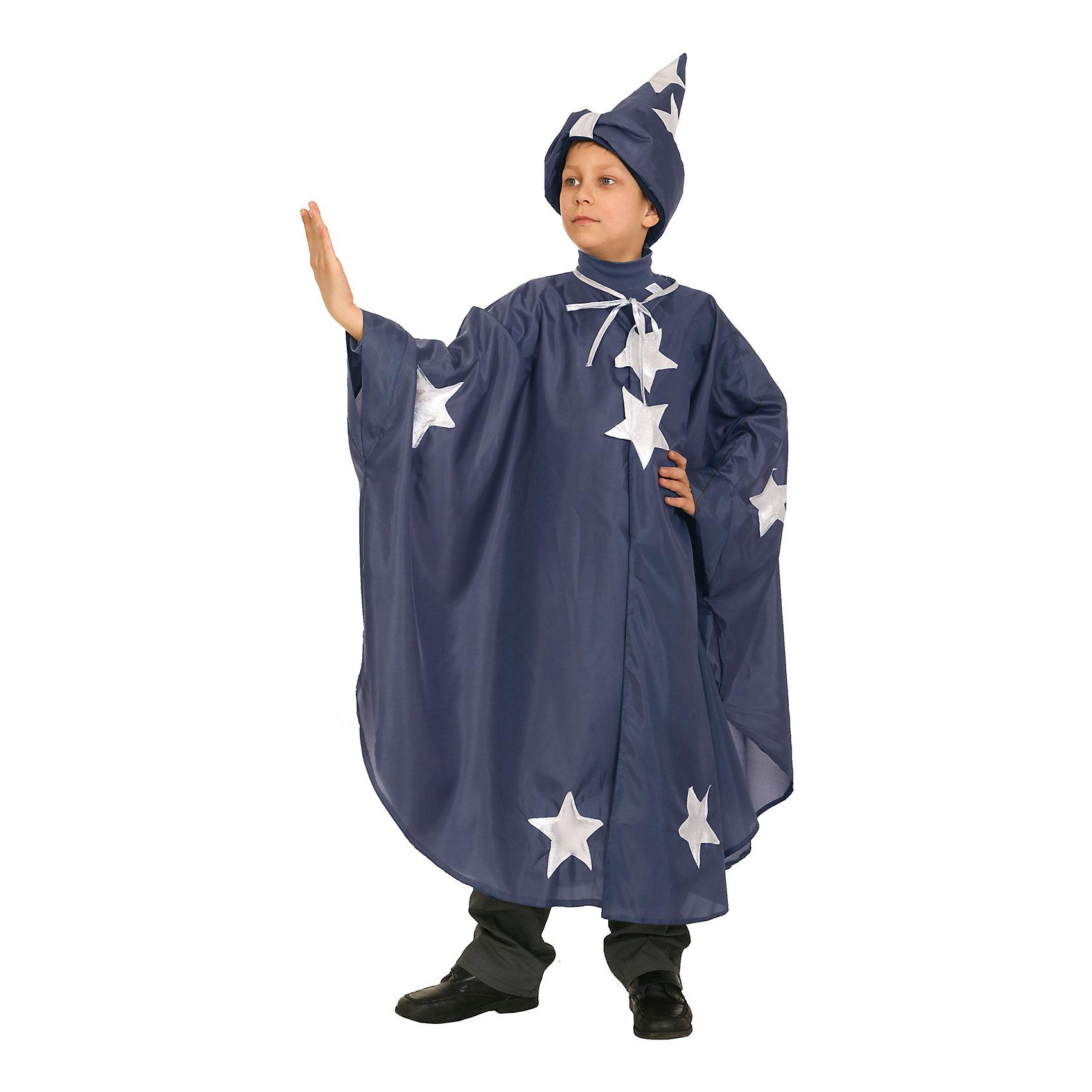 Карнавальный костюм для мальчика Звездочет, ВестификаКарнавальный костюм Звездочет любят и мальчики и девочки. Костюм состоит из широкого плаща, украшенного аппликацией из серебряной парчи. Плащ фиксируется липучками. дополняет костюм колпак, подбитый синтепоном и снабженный подкладкой из хлопчатобумажной ткани. Костюм Звездочета отлично подойдет для утренника в детском саду, костюмированных праздников, новогодних огоньков. Рекомендуем дополнить костюм темными брюками, рубашкой и ботинками в тон брюк.<br><br>Дополнительная информация:<br><br>Комплектация:<br>Плащ их крепсатина со звездами<br>Колпак из крепсатина<br>Ткани:<br>Крепсатин (100% полиэстер)<br>Синтепон (100% полиэстер)<br>Бязь (100% хлопок)<br>Стрейч-парча (95% полиэстер, 5% эластан)<br><br>Карнавальный костюм для мальчика Звездочет, Вестифика можно купить в нашем магазине.<br><br>Ширина мм: 236<br>Глубина мм: 16<br>Высота мм: 184<br>Вес г: 150<br>Цвет: разноцветный<br>Возраст от месяцев: 96<br>Возраст до месяцев: 108<br>Пол: Мужской<br>Возраст: Детский<br>Размер: 128/134,116/122<br>SKU: 4389242