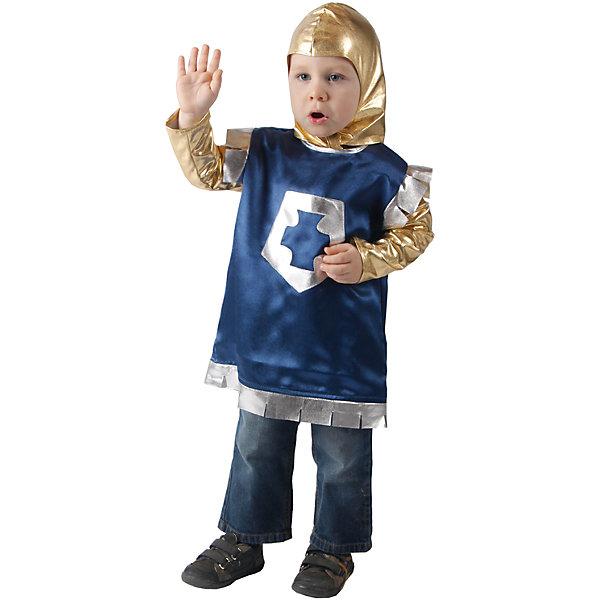 Карнавальный костюм для мальчика Рыцарь, ВестификаКарнавальные костюмы для девочек<br>Детский карнавальный костюм Рыцарь выполнен частично из очень мягкого материала- стрейч-парчи. Именно поэтому его так любят мамы и малыши - шлем не сковывает движения. Рубашка украшена аппликацией из парчи. Допустимы отклонения по цвету ткани, макету аппликации.<br><br>Дополнительная информация:<br><br>Комплектация:<br>Рубашка из крепсатина<br>Шлем из стрейч-парчи<br>Ткани:<br>Крепсатин (100% полиэстер)<br>Стрейч-парча (95% полиэстер, 5% эластан)<br><br>Карнавальный костюм для мальчика Рыцарь, Вестифика можно купить в нашем магазине.<br><br>Ширина мм: 236<br>Глубина мм: 16<br>Высота мм: 184<br>Вес г: 150<br>Возраст от месяцев: 36<br>Возраст до месяцев: 60<br>Пол: Мужской<br>Возраст: Детский<br>Размер: 98/110<br>SKU: 4389247
