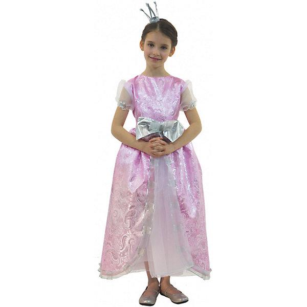 Карнавальный костюм для девочки Принцесса Розовая Люкс, ВестификаКарнавальные костюмы для девочек<br>Каждая девочка мечтает почувствовать себя настоящей принцессой и поехать на бал в самом красивом платье на свете. Эта мечта становится реальностью, как только девочка примеряет карнавальный костюм Принцесса Люкс. Костюм выполнен из настоящей розовой парчи с золотой нитью. Многочисленные нижние юбки из тафеты и органзы придают объем шикарному бальному платью. Маленькая корона фиксируется на волосах невидимками.<br><br>Дополнительная информация:<br><br>Комплектация:<br>Платье из парчи и органзы<br>Корона<br>Ткани:<br>Парча (100% полиэстер)<br>Органза (100% полиэстер)<br>Тафета (100% полиэстер)<br><br>Карнавальный костюм для девочки Принцесса Розовая Люкс, Вестифика можно купить в нашем магазине.<br><br>Ширина мм: 236<br>Глубина мм: 16<br>Высота мм: 184<br>Вес г: 360<br>Цвет: белый<br>Возраст от месяцев: 48<br>Возраст до месяцев: 60<br>Пол: Женский<br>Возраст: Детский<br>Размер: 104/110,128/134,116/122<br>SKU: 4389252
