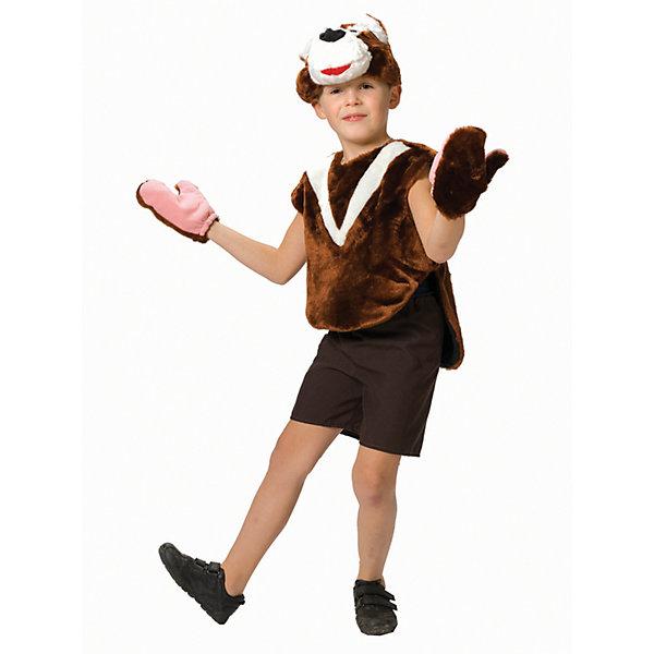 Карнавальный костюм для мальчика Медвежонок, ВестификаКарнавальные костюмы для мальчиков<br>Медвежонок - постоянный участник всех утренников и праздников в детском саду. Поэтому наш карнавальный костюм Медвежонок пользуется большой популярностью. Костюм состоит из шикарной меховой жилетки, шортиков из габардина, шапки-маски и варежек. Просторную жилетку можно одевать поверх футболочки белого или бежевого цвета.<br><br>Дополнительная информация:<br><br>Комплектация:<br>Шорты из габардина<br>Жилетка меховая<br>Шапка-маска<br>Варежки меховые<br>Ткани:<br>Искусственный мех (100% полиэстер)<br>Габардин (100% полиэстер)<br>Бязь (100% хлопок)<br><br>Карнавальный костюм для мальчика Медвежонок, Вестифика можно купить в нашем магазине.<br><br>Ширина мм: 236<br>Глубина мм: 16<br>Высота мм: 184<br>Вес г: 310<br>Возраст от месяцев: 48<br>Возраст до месяцев: 60<br>Пол: Женский<br>Возраст: Детский<br>Размер: 104/110,116/122<br>SKU: 4389263
