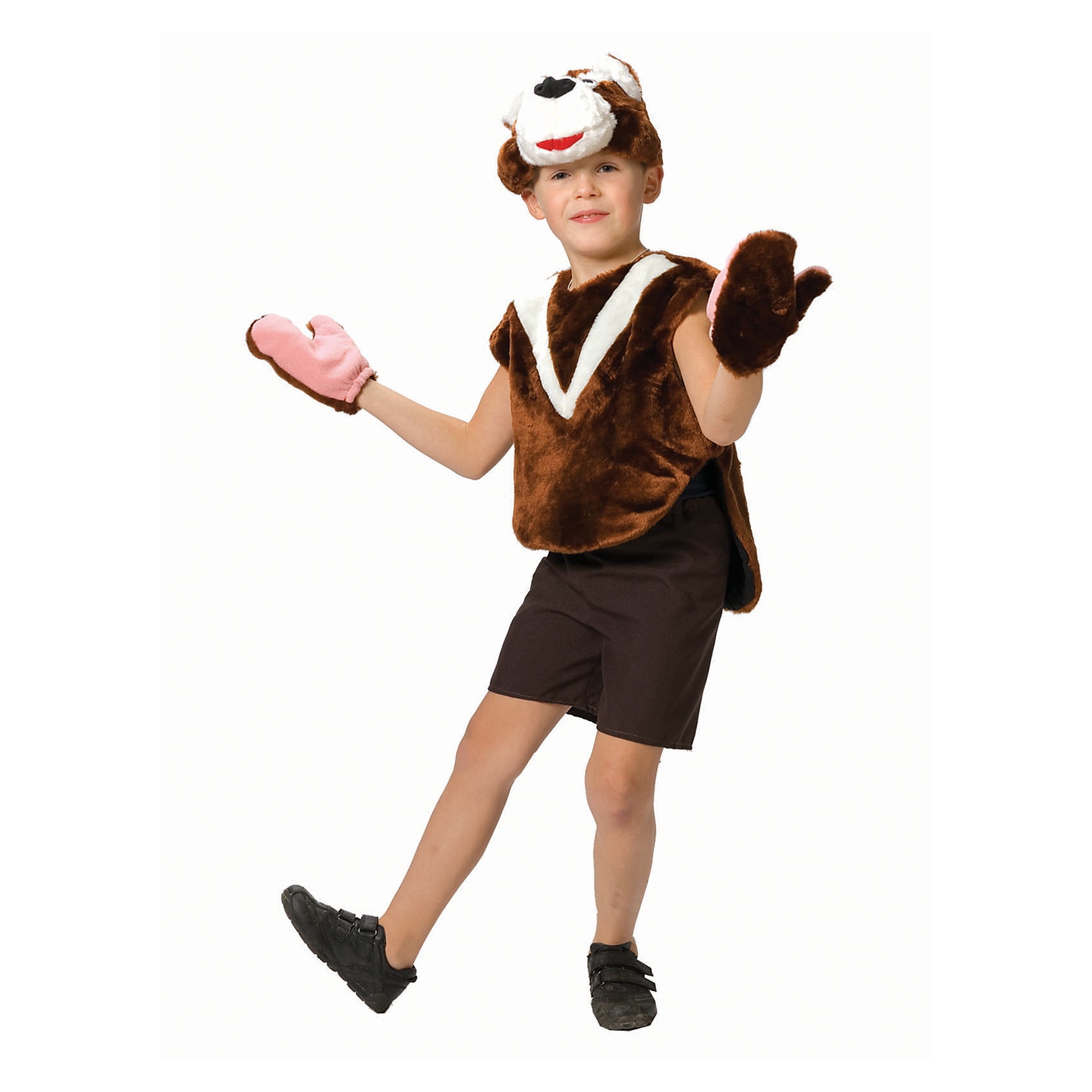Карнавальный костюм для мальчика Медвежонок, ВестификаКарнавальные костюмы и аксессуары<br>Медвежонок - постоянный участник всех утренников и праздников в детском саду. Поэтому наш карнавальный костюм Медвежонок пользуется большой популярностью. Костюм состоит из шикарной меховой жилетки, шортиков из габардина, шапки-маски и варежек. Просторную жилетку можно одевать поверх футболочки белого или бежевого цвета.<br><br>Дополнительная информация:<br><br>Комплектация:<br>Шорты из габардина<br>Жилетка меховая<br>Шапка-маска<br>Варежки меховые<br>Ткани:<br>Искусственный мех (100% полиэстер)<br>Габардин (100% полиэстер)<br>Бязь (100% хлопок)<br><br>Карнавальный костюм для мальчика Медвежонок, Вестифика можно купить в нашем магазине.<br><br>Ширина мм: 236<br>Глубина мм: 16<br>Высота мм: 184<br>Вес г: 310<br>Цвет: разноцветный<br>Возраст от месяцев: 48<br>Возраст до месяцев: 60<br>Пол: Женский<br>Возраст: Детский<br>Размер: 104/110,116/122<br>SKU: 4389263