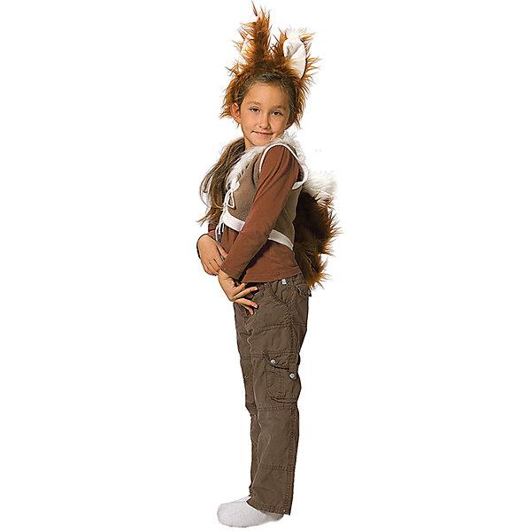 Карнавальный костюм для девочки Белочка, ВестификаКарнавальные костюмы для девочек<br>Детский карнавальный костюм Белочка один из самых любимых и востребованных костюмов для детского сада. Костюм Белочка для девочки состоит из жилетки и ободка с ушками. Жилетка на груди завязывается шнурком. К жилетке пришит хвост.<br><br>Дополнительная информация:<br><br>Комплектация:<br>Жилетка с хвостиком <br>Ободок с ушками<br>Ткани:<br>Флис (100% полиэстер)<br><br>Карнавальный костюм для девочки Белочка, Вестифика можно купить в нашем магазине.<br><br>Ширина мм: 236<br>Глубина мм: 16<br>Высота мм: 184<br>Вес г: 100<br>Возраст от месяцев: 48<br>Возраст до месяцев: 60<br>Пол: Женский<br>Возраст: Детский<br>Размер: 104/110<br>SKU: 4389276