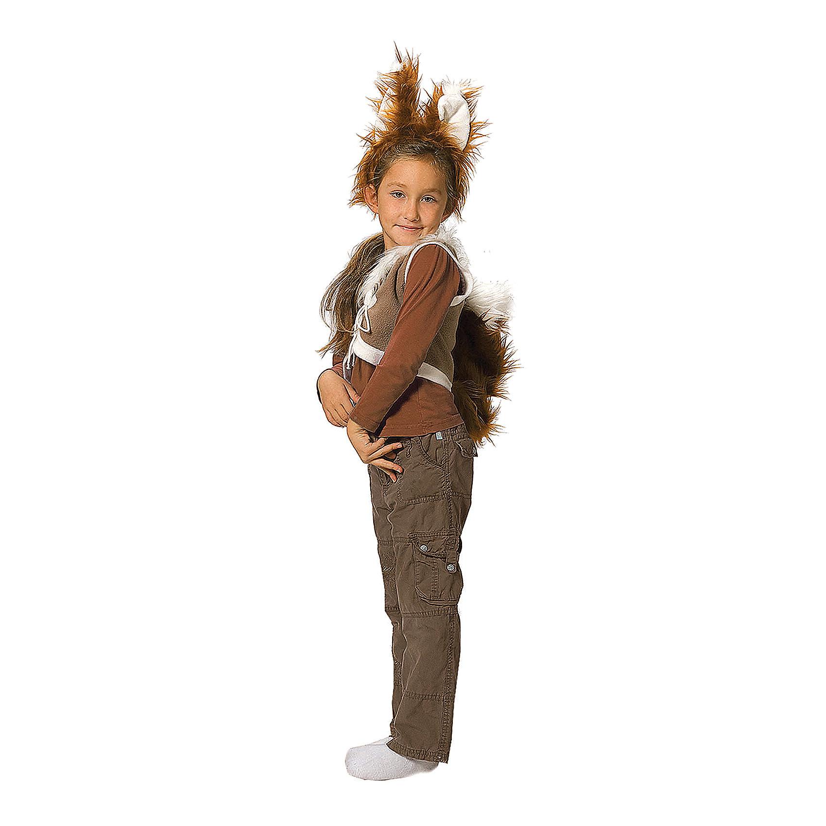 Карнавальный костюм для девочки Белочка, ВестификаКарнавальные костюмы и аксессуары<br>Детский карнавальный костюм Белочка один из самых любимых и востребованных костюмов для детского сада. Костюм Белочка для девочки состоит из жилетки и ободка с ушками. Жилетка на груди завязывается шнурком. К жилетке пришит хвост.<br><br>Дополнительная информация:<br><br>Комплектация:<br>Жилетка с хвостиком <br>Ободок с ушками<br>Ткани:<br>Флис (100% полиэстер)<br><br>Карнавальный костюм для девочки Белочка, Вестифика можно купить в нашем магазине.<br><br>Ширина мм: 236<br>Глубина мм: 16<br>Высота мм: 184<br>Вес г: 100<br>Цвет: разноцветный<br>Возраст от месяцев: 48<br>Возраст до месяцев: 60<br>Пол: Женский<br>Возраст: Детский<br>Размер: 104/110<br>SKU: 4389276