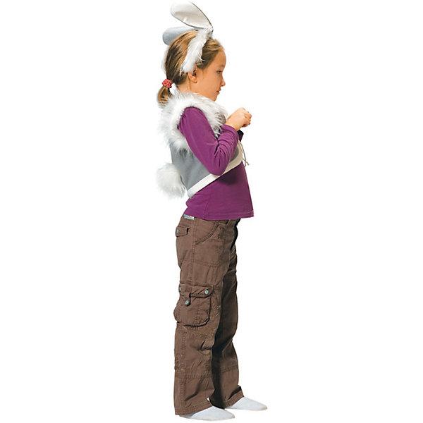 Карнавальный костюм для мальчика Заяц, ВестификаКарнавальные костюмы для девочек<br>Детский карнавальный костюм Заяц состоит из жилетки, выполненной из флиса и посаженной на подкладку из хлопчатобумажной ткани, и ободка с ушками. На жилетку прикреплен хвостик.<br><br>Дополнительная информация:<br><br>Комплектация:<br>Жилетка с хвостиком<br>Ободок с ушками<br>Ткани:<br>Флис (100% полиэстер)<br><br>Карнавальный костюм для мальчика Заяц, Вестифика можно купить в нашем магазине.<br>Ширина мм: 236; Глубина мм: 16; Высота мм: 184; Вес г: 100; Возраст от месяцев: 48; Возраст до месяцев: 60; Пол: Мужской; Возраст: Детский; Размер: 104/110; SKU: 4389284;