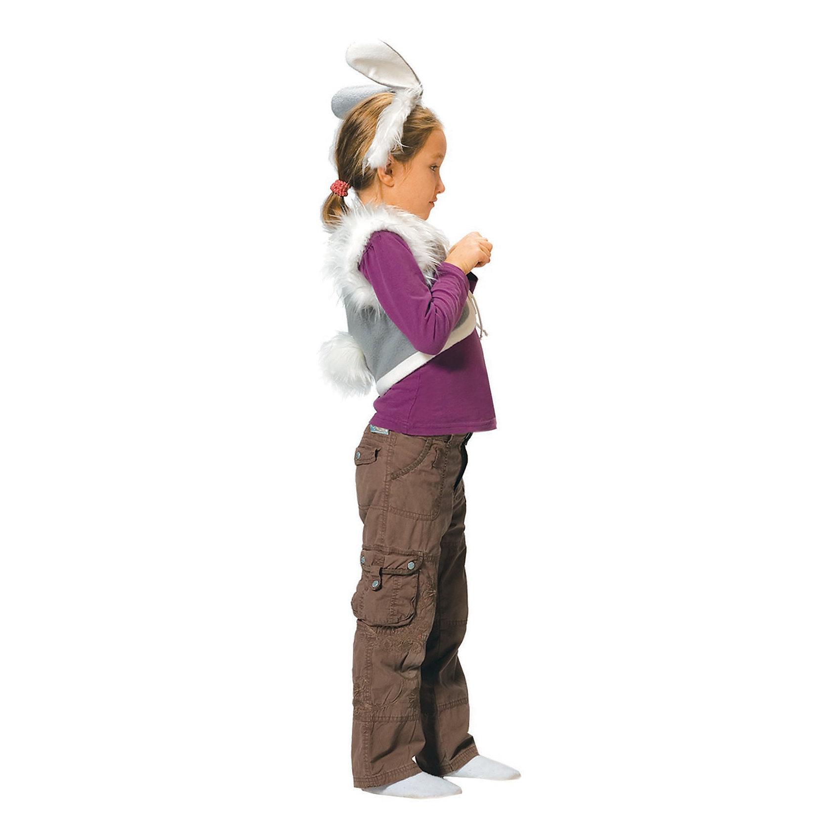 Карнавальный костюм для мальчика Заяц, ВестификаДетский карнавальный костюм Заяц состоит из жилетки, выполненной из флиса и посаженной на подкладку из хлопчатобумажной ткани, и ободка с ушками. На жилетку прикреплен хвостик.<br><br>Дополнительная информация:<br><br>Комплектация:<br>Жилетка с хвостиком<br>Ободок с ушками<br>Ткани:<br>Флис (100% полиэстер)<br><br>Карнавальный костюм для мальчика Заяц, Вестифика можно купить в нашем магазине.<br><br>Ширина мм: 236<br>Глубина мм: 16<br>Высота мм: 184<br>Вес г: 100<br>Цвет: разноцветный<br>Возраст от месяцев: 48<br>Возраст до месяцев: 60<br>Пол: Мужской<br>Возраст: Детский<br>Размер: 104/110<br>SKU: 4389284