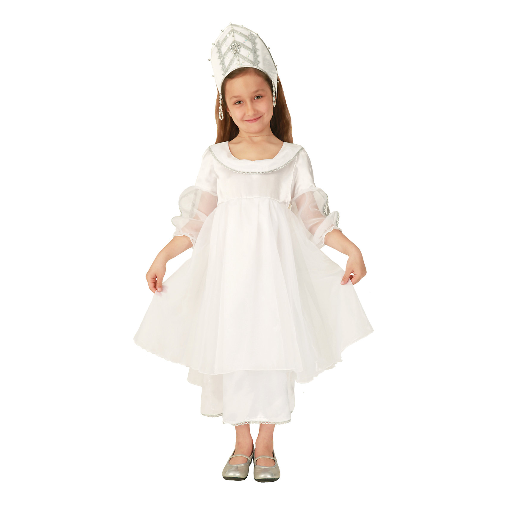 Вестифика Карнавальный костюм для девочки Снежинка сверкающая, Вестифика карнавальный костюм снежинка 32