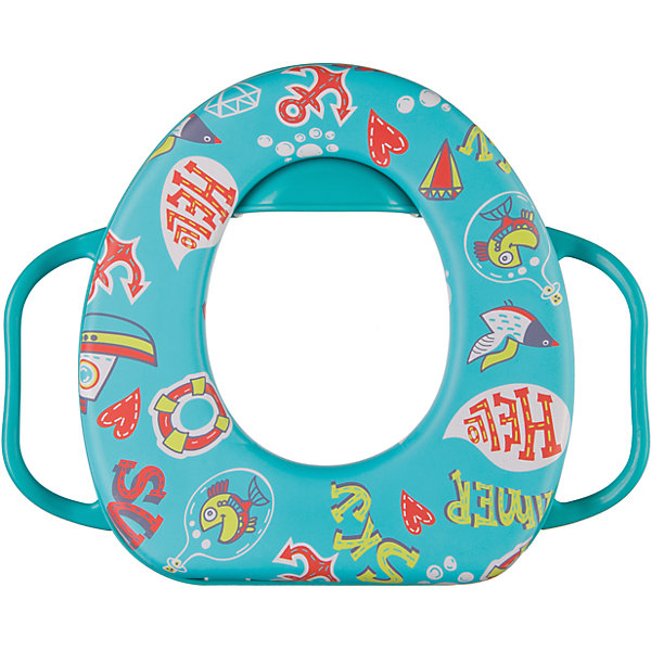 Накладка на унитаз Safary, Happy Baby, бирюзовыйДетские горшки<br>Цель детского сиденья — заинтересовать ребенка самостоятельным пользованием туалетом. Безопасное и комфортное мягкое сиденье приучит малыша пользоваться унитазом. Сиденье легкое, и малыш сможет самостоятельно установить его.<br><br>Дополнительная информация:<br><br>Надежные ручки<br>Подушка отделяется и легко моется<br>Подходящая по высоте защита от разбрызгивания, разработанная специально для мальчиков и девочек<br>Мягкое и приятное на ощупь<br>Легкое<br><br>Накладку на унитаз Safary, Happy Baby (Хэпи Бэби), бирюзовый можно купить в нашем магазине.<br><br>Ширина мм: 70<br>Глубина мм: 360<br>Высота мм: 300<br>Вес г: 400<br>Цвет: бирюзовый<br>Возраст от месяцев: 18<br>Возраст до месяцев: 36<br>Пол: Унисекс<br>Возраст: Детский<br>SKU: 4390740
