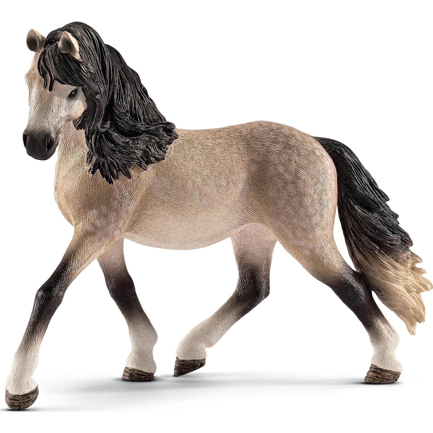 Андалузская кобыла, SchleichМир животных<br>Андалузская кобыла, Schleich (Шляйх) – это высококачественная коллекционная и игровая фигурка.<br><br>Прекрасная фигурка Андалузской кобылы с роскошной гривой станет достойным пополнением коллекции.<br><br>Андалузские лошади самая известная порода из Испании. В 16-18 веках пользовалась всемирной популярностью. Андалузские лошади были представлены в конюшнях большинства европейских монархов и знатных вельмож. Представители данной породы считались лучшими «для войны и для парада». В настоящее время эта порода используется в высшей школе верховой езды, а также в цирке.<br><br>Прекрасно выполненные фигурки Schleich (Шляйх) являются максимально точной копией настоящих животных и отличаются высочайшим качеством игрушек ручной работы. Каждая фигурка разработана с учетом исследований в области педагогики.<br>Фигурка Андалузской кобылы прекрасно разнообразит игру вашего ребенка и станет отличным пополнением коллекции его фигурок животных.<br><br>Все фигурки сделаны из гипоаллергенных высокотехнологичных материалов, раскрашены вручную и не вызывают аллергии у ребенка.<br><br>Дополнительная информация:<br><br>- Размер фигурки: 12,6х4,8х10,7см.<br>- Материал: высококачественный каучуковый пластик<br><br>Фигурку Андалузская кобыла, Schleich (Шляйх) можно купить в нашем интернет-магазине.<br><br>Ширина мм: 175<br>Глубина мм: 132<br>Высота мм: 50<br>Вес г: 136<br>Возраст от месяцев: 36<br>Возраст до месяцев: 96<br>Пол: Женский<br>Возраст: Детский<br>SKU: 4394571