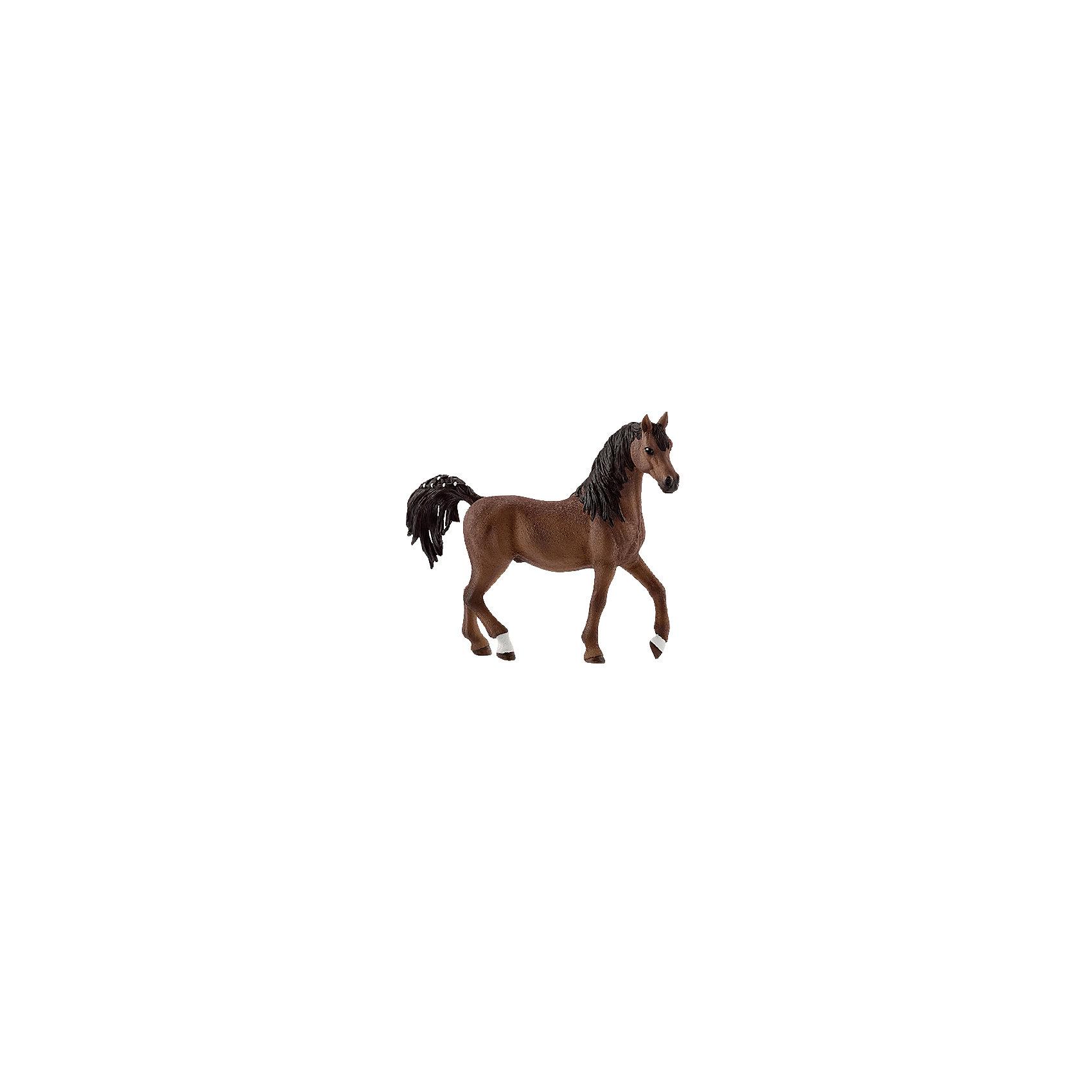 Арабский жеребец, SchleichАрабский жеребец, Schleich (Шляйх) – это высококачественная коллекционная и игровая фигурка.<br><br>Великолепная натуралистичная фигурка Арабского жеребца станет прекрасным приобретением для ценителей фигурок лошадей.<br>Порода Арабских лошадей была выведена в Аравии. Порода отличается выносливостью, прекрасно поддается дрессировке. Раньше Арабская лошадь использовалась, прежде всего, как орудие войны. Порода знаменита своей выносливостью, неутомимостью, при этом они дружелюбны и элегантны. Сейчас эта порода является самой популярной в мире и ежегодно завоевывает большое количество различных мировых наград. <br><br>Прекрасно выполненные фигурки Schleich (Шляйх) являются максимально точной копией настоящих животных и отличаются высочайшим качеством игрушек ручной работы. Каждая фигурка разработана с учетом исследований в области педагогики.<br><br>Фигурка Арабского жеребца прекрасно разнообразит игру вашего ребенка и станет отличным пополнением коллекции его фигурок животных.<br><br>Все фигурки сделаны из гипоаллергенных высокотехнологичных материалов, раскрашены вручную и не вызывают аллергии у ребенка.<br><br>Дополнительная информация:<br><br>- Размер фигурки: 12 x 3.5 x 11 см..<br>- Материал: высококачественный каучуковый пластик<br><br>Фигурку Арабского жеребца, Schleich (Шляйх) можно купить в нашем интернет-магазине.<br><br>Ширина мм: 152<br>Глубина мм: 137<br>Высота мм: 40<br>Вес г: 98<br>Возраст от месяцев: 36<br>Возраст до месяцев: 96<br>Пол: Женский<br>Возраст: Детский<br>SKU: 4394580