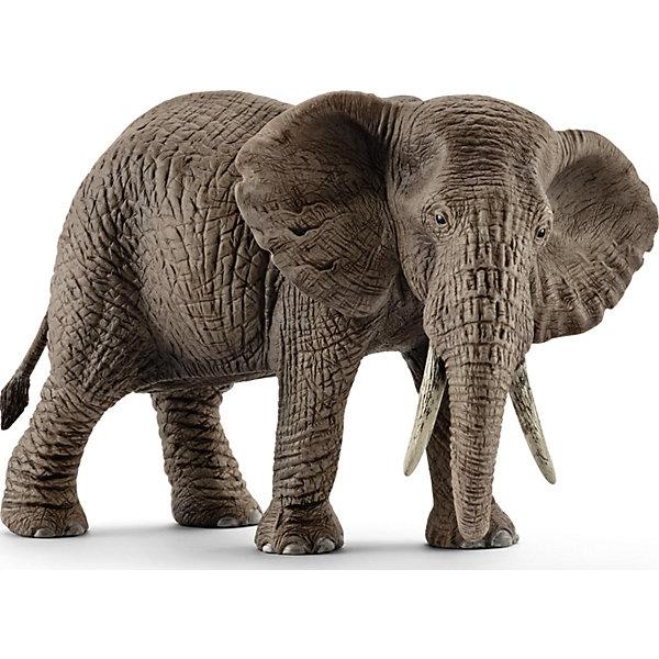 Коллекционная фигурка Schleich Дикие животные Африканский слон, самкаМир животных<br>Характеристики:<br><br>• возраст: от 3 лет;<br>• материал: каучуковый пластик;<br>• размер игрушки: 14,6х7,5х9,1 см;<br>• вес упаковки: 280 гр.;<br>• размер упаковки: 14,6х7,5х9,1 см;<br>• страна бренда: Германия.<br><br>Фигурка от бренда Schleich – детализированная копия самки африканского слона. Фигурка с точностью передает особенности строения тела животного, внешний вид кожи, характерную позу.<br><br>В изготовлении каждой фигурки «Шляйх» учитываются рекомендации педагогики для того, чтобы игрушка была интересна и полезна ребенку, комфортно располагалась в руках. Фигурка раскрашена вручную, сделана из прочных безопасных материалов, не вызывающих аллергию. Разработано при участии Берлинского зоопарка.<br><br>Фигурка подойдет для сюжетно-ролевых игр, а также может стать частью большой коллекции реалистичных копий животных Schleich.<br><br>Фигурку Schleich Африканский слон, самка можно купить в нашем интернет-магазине.<br>Ширина мм: 139; Глубина мм: 98; Высота мм: 73; Вес г: 279; Возраст от месяцев: 36; Возраст до месяцев: 96; Пол: Унисекс; Возраст: Детский; SKU: 4394590;