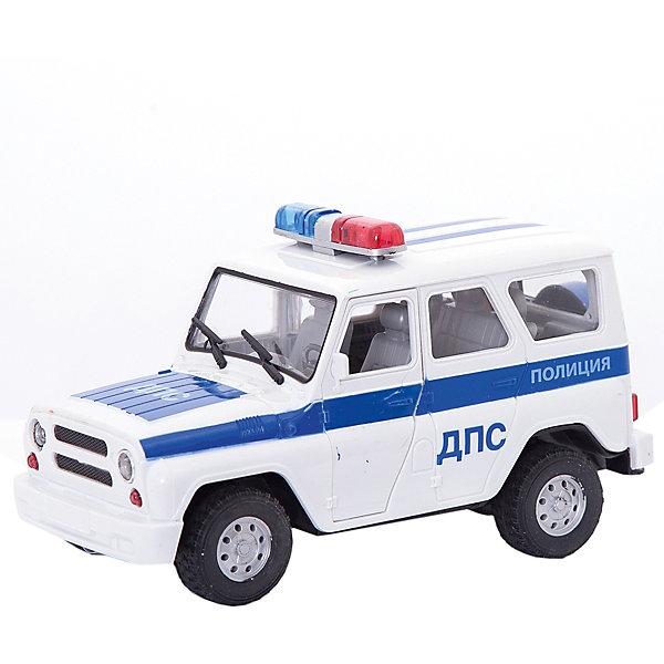 Машинка ДПС, ТЕХНОПАРКМашинки<br>Характеристики:<br><br>• тип игрушки: машина;<br>• возраст: от 3 лет;<br>• размер: 13,5х19,5х6,5 см;<br>• масштаб: 1:43;<br>• цвет: белый;<br>• материал: металл, пластик;<br>• бренд: Технопарк;<br>• страна производителя: Китай.<br><br>Машина Технопарк «ДПС»  придется по душе и детям, и взрослым коллекционерам миниатюрных моделей техники. Игрушка представляет собой реалистичную уменьшенную копию полицейского автомобиля УАЗ 39625. Металлический корпус и пластиковый салон модели проработаны до мелочей. Автомобиль, подобно своему прототипу, выкрашен в сине-белые цвета и оснащен мигалкой.<br>Тематические игры с интересными сюжетами разбудят воображение ребёнка, а манипуляции с игрушкой потренируют мелкую моторику пальцев рук. Масштабные модели от компании «Технопарк» отличаются качественными ударопрочными материалами, продлевающими долговечность изделия тщательным исполнением со вниманием ко всем деталям, и имеют требуемые сертификаты соответствия для детских игрушек.<br>Машину Технопарк «ДПС»  можно купить в нашем интернет-магазине<br>Ширина мм: 770; Глубина мм: 350; Высота мм: 680; Вес г: 1600; Возраст от месяцев: 36; Возраст до месяцев: 144; Пол: Мужской; Возраст: Детский; SKU: 4395909;