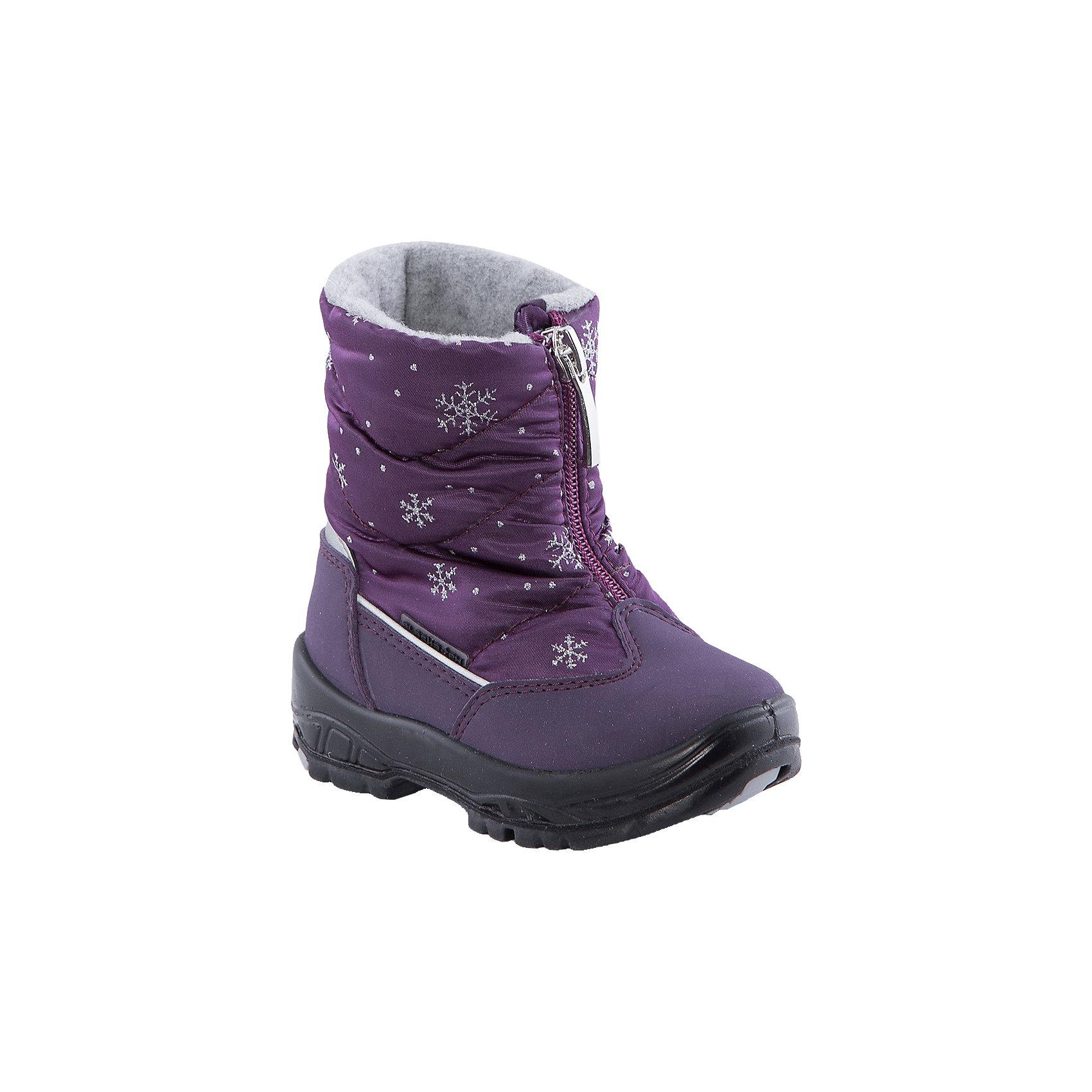 Сапоги  Alaska OriginaleМембранная обувь AlaskaOriginale - это стильная, удобная и высокотехнологичная обувь нового поколения, которая при любой погоде остается сухой и теплой. Полиуретановая литая подошва с системой «ANTISLIDE» обеспечивает превосходное сцепление, высокую устойчивость к деформациям, низким температурами и гарантирует полную водонепроницаемость. Мембрана позволяет стопе «дышать», сохраняя ее сухой. Благодаря всем этим свойствам обувь обеспечивает комфорт при ношении от +5 до -25 градусов.<br><br>Состав: <br>Материалы верха:Текстильные материалы.Подкладка:Шерсть.Подошва:Полиуретан+Термоэластопласт<br><br>Ширина мм: 257<br>Глубина мм: 180<br>Высота мм: 130<br>Вес г: 420<br>Цвет: фиолетовый<br>Возраст от месяцев: 15<br>Возраст до месяцев: 18<br>Пол: Женский<br>Возраст: Детский<br>Размер: 22,20,21,23,24<br>SKU: 4399016