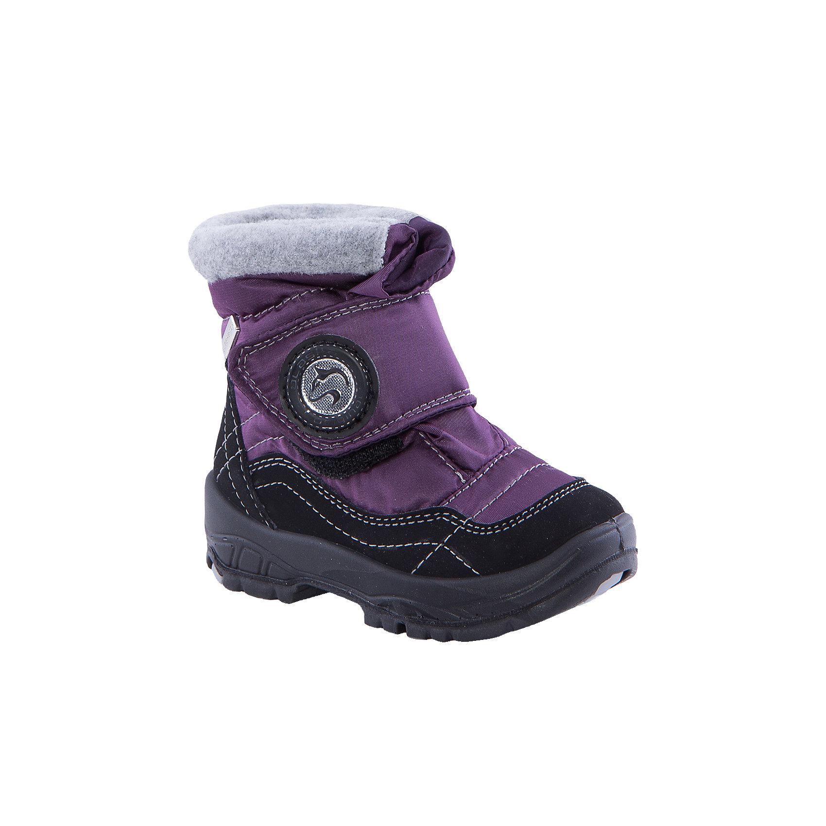 Сапоги  Alaska OriginaleМембранная обувь AlaskaOriginale - это стильная, удобная и высокотехнологичная обувь нового поколения, которая при любой погоде остается сухой и теплой. Полиуретановая литая подошва с системой «ANTISLIDE» обеспечивает превосходное сцепление, высокую устойчивость к деформациям, низким температурами и гарантирует полную водонепроницаемость. Мембрана позволяет стопе «дышать», сохраняя ее сухой. Благодаря всем этим свойствам обувь обеспечивает комфорт при ношении от +5 до -25 градусов.<br><br>Состав: <br>Материалы верха:Текстильные материалы.Подкладка:Шерсть.Подошва:Полиуретан+Термоэластопласт<br><br>Ширина мм: 257<br>Глубина мм: 180<br>Высота мм: 130<br>Вес г: 420<br>Цвет: фиолетовый<br>Возраст от месяцев: 9<br>Возраст до месяцев: 12<br>Пол: Унисекс<br>Возраст: Детский<br>Размер: 20,27,26,21,22,23,24,25<br>SKU: 4399031