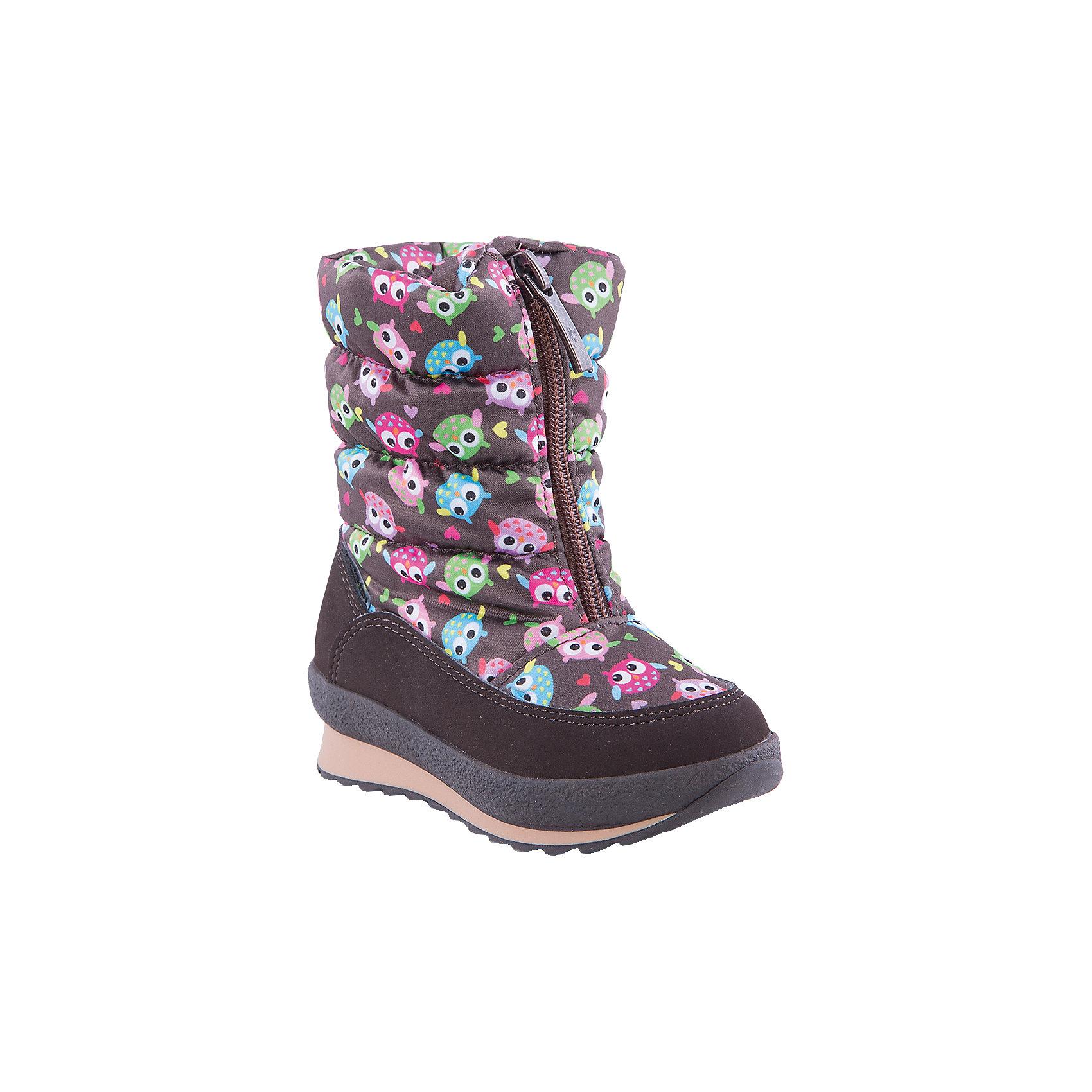 Сапоги для девочки Alaska OriginaleОбувь для малышей<br>Мембранная обувь AlaskaOriginale - это стильная, удобная и высокотехнологичная обувь нового поколения, которая при любой погоде остается сухой и теплой. Полиуретановая литая подошва с системой «ANTISLIDE» обеспечивает превосходное сцепление, высокую устойчивость к деформациям, низким температурами и гарантирует полную водонепроницаемость. Мембрана позволяет стопе «дышать», сохраняя ее сухой. Благодаря всем этим свойствам обувь обеспечивает комфорт при ношении от +5 до -25 градусов.<br><br>Состав: <br>Материалы верха: Текстильные материалы. Подрошва:Термопластик.<br><br>Ширина мм: 257<br>Глубина мм: 180<br>Высота мм: 130<br>Вес г: 420<br>Цвет: коричневый<br>Возраст от месяцев: 18<br>Возраст до месяцев: 21<br>Пол: Женский<br>Возраст: Детский<br>Размер: 23,26,24,25<br>SKU: 4399097