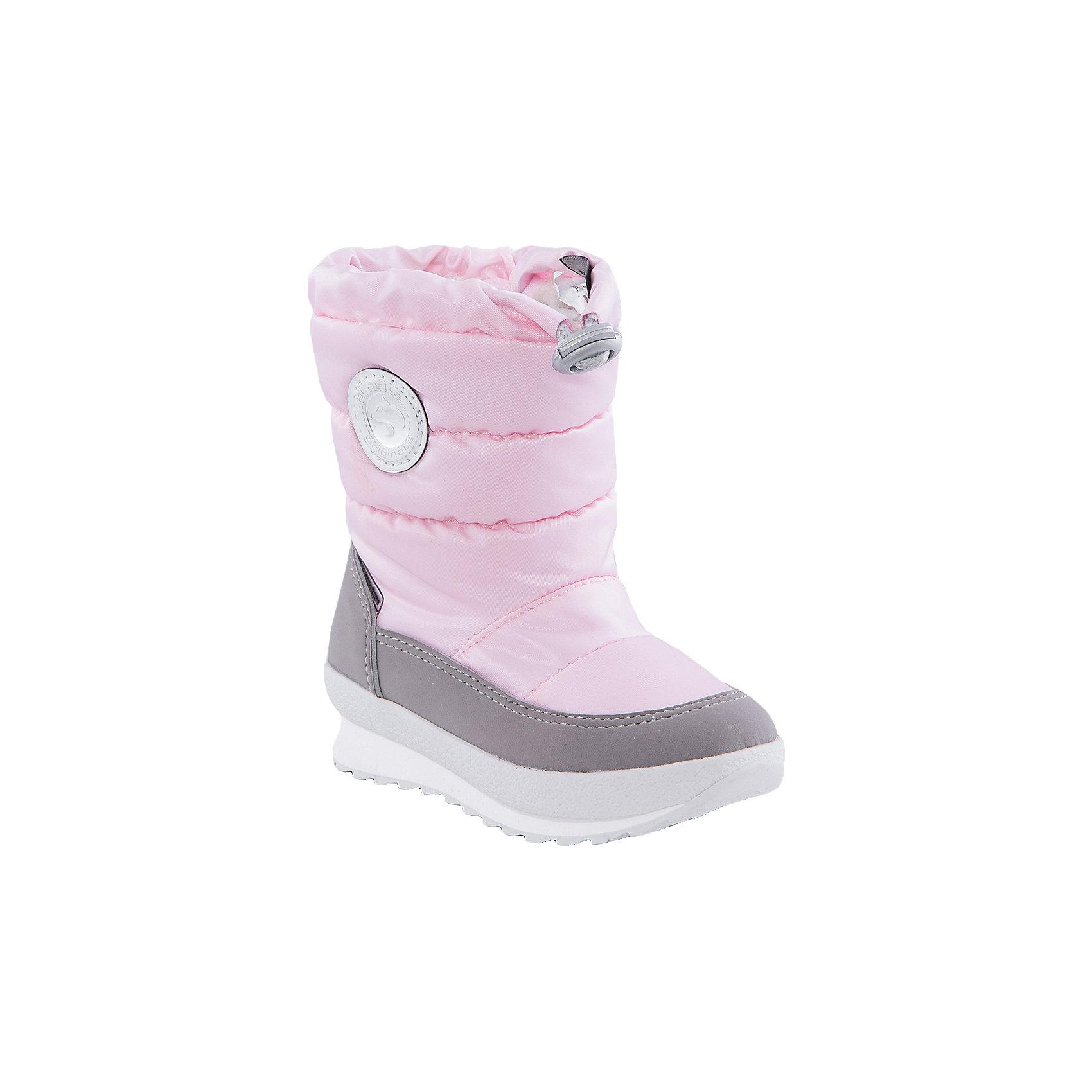 Сапоги  Alaska OriginaleМембранная обувь AlaskaOriginale - это стильная, удобная и высокотехнологичная обувь нового поколения, которая при любой погоде остается сухой и теплой. Полиуретановая литая подошва с системой «ANTISLIDE» обеспечивает превосходное сцепление, высокую устойчивость к деформациям, низким температурами и гарантирует полную водонепроницаемость. Мембрана позволяет стопе «дышать», сохраняя ее сухой. Благодаря всем этим свойствам обувь обеспечивает комфорт при ношении от +5 до -25 градусов.<br><br>Состав: <br>Материалы верха: Текстильные материалы. Подрошва:Термопластик.<br><br>Ширина мм: 257<br>Глубина мм: 180<br>Высота мм: 130<br>Вес г: 420<br>Цвет: розовый<br>Возраст от месяцев: 18<br>Возраст до месяцев: 21<br>Пол: Женский<br>Возраст: Детский<br>Размер: 23,22,24,25,26,27<br>SKU: 4399107