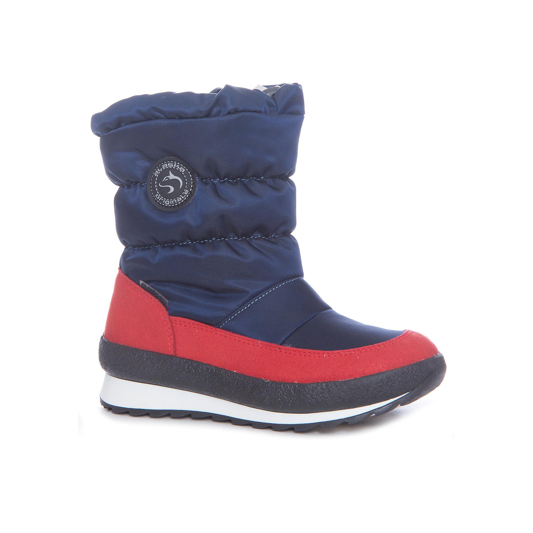 Сапоги  Alaska OriginaleМембранная обувь AlaskaOriginale - это стильная, удобная и высокотехнологичная обувь нового поколения, которая при любой погоде остается сухой и теплой. Полиуретановая литая подошва с системой «ANTISLIDE» обеспечивает превосходное сцепление, высокую устойчивость к деформациям, низким температурами и гарантирует полную водонепроницаемость. Мембрана позволяет стопе «дышать», сохраняя ее сухой. Благодаря всем этим свойствам обувь обеспечивает комфорт при ношении от +5 до -25 градусов.<br><br>Состав: <br>Материалы верха: Текстильные материалы. Подрошва:Термопластик.<br><br>Ширина мм: 257<br>Глубина мм: 180<br>Высота мм: 130<br>Вес г: 420<br>Цвет: синий<br>Возраст от месяцев: 36<br>Возраст до месяцев: 48<br>Пол: Унисекс<br>Возраст: Детский<br>Размер: 24,25,26,23,22,28,29,30,31,32,27,33<br>SKU: 4399128