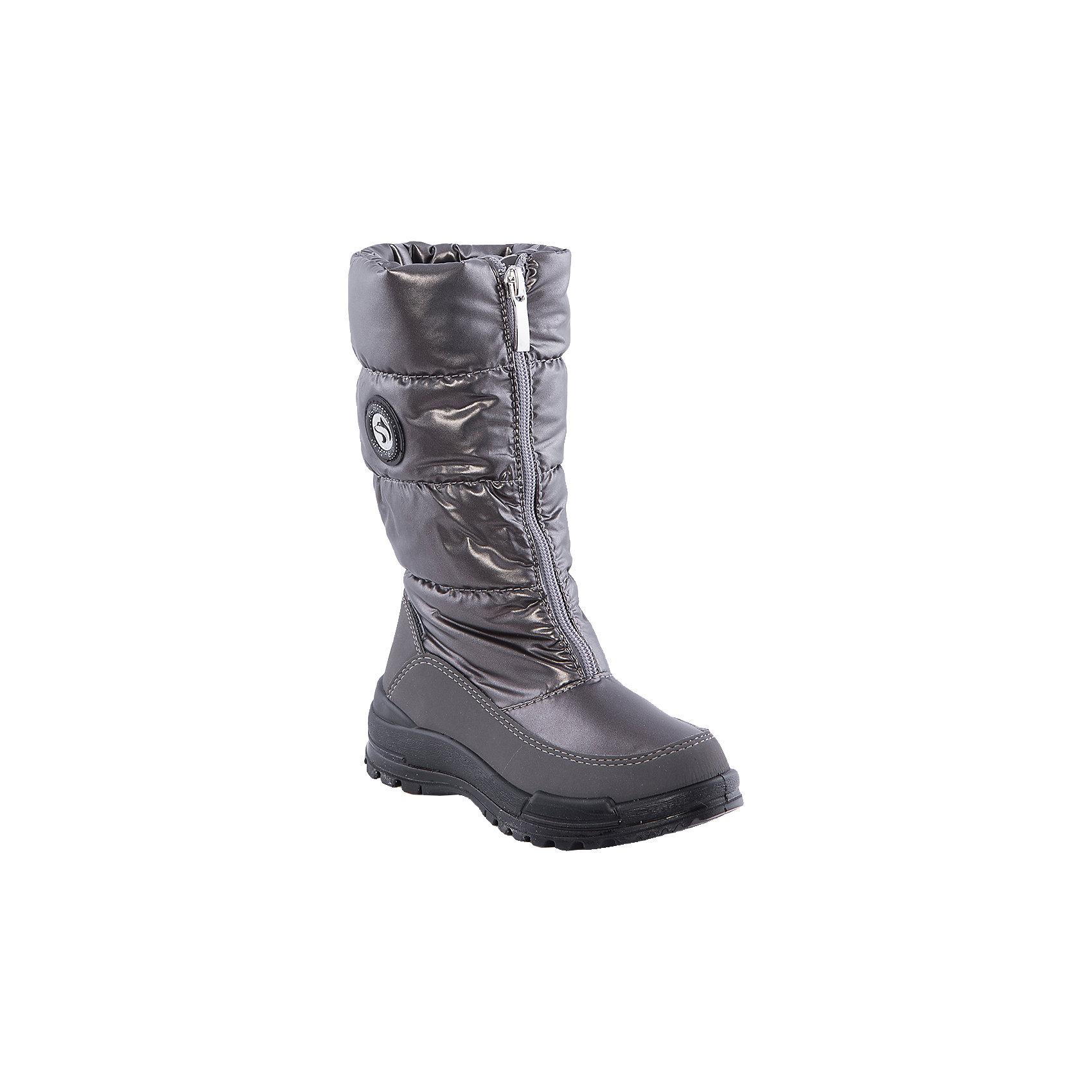 Сапоги для девочки Alaska OriginaleМембранная обувь AlaskaOriginale - это стильная, удобная и высокотехнологичная обувь нового поколения, которая при любой погоде остается сухой и теплой. Полиуретановая литая подошва с системой «ANTISLIDE» обеспечивает превосходное сцепление, высокую устойчивость к деформациям, низким температурами и гарантирует полную водонепроницаемость. Мембрана позволяет стопе «дышать», сохраняя ее сухой. Благодаря всем этим свойствам обувь обеспечивает комфорт при ношении от +5 до -25 градусов.<br><br>Состав: <br>Материалы верха: Текстильные материалы. Подрошва:Термопластик.<br><br>Ширина мм: 257<br>Глубина мм: 180<br>Высота мм: 130<br>Вес г: 420<br>Цвет: золотой<br>Возраст от месяцев: 96<br>Возраст до месяцев: 108<br>Пол: Женский<br>Возраст: Детский<br>Размер: 31,33,30,29,28,32<br>SKU: 4399153