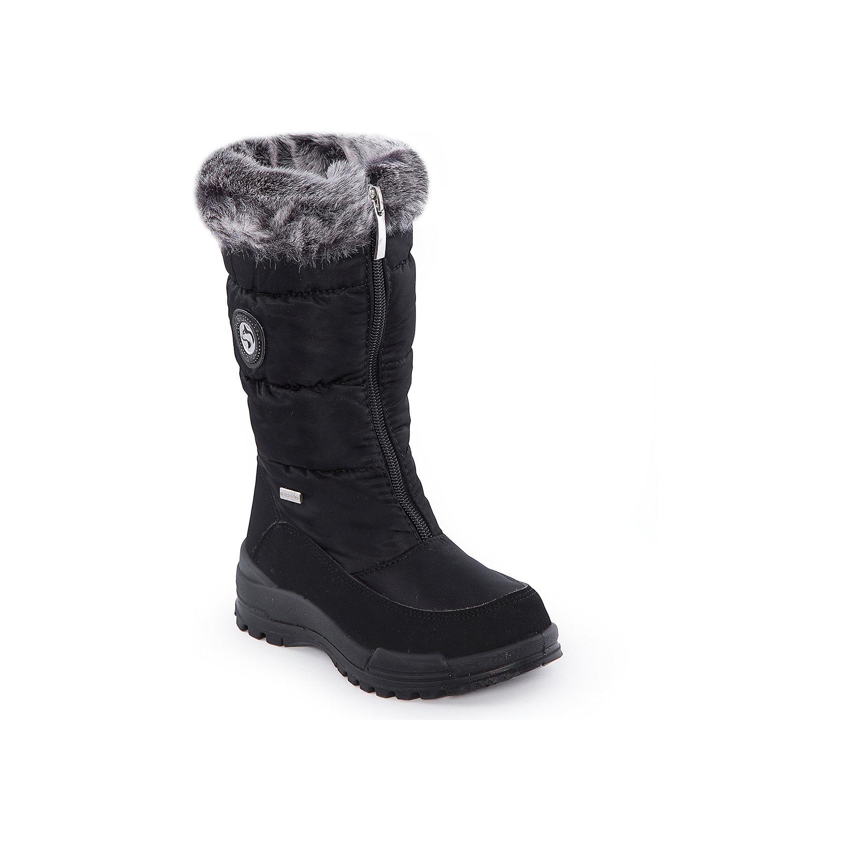 Сапоги для девочки Alaska OriginaleСапоги<br>Сапоги для девочки от известного бренда Alaska Originale <br> <br>Модные и удобные сапоги, произведенные с применением новейших технологий. Они всегда сохранят ноги в тепле и сухости. Подошва сделана по системе «ANTISLIDE», которая не скользит, не пропускает воду. Мембранный материал сапог позволяет стопе дышать, отводя лишнюю влагу. <br> <br>Особенности модели: <br> <br>- цвет: черный; <br>- стильный дизайн; <br>- удобная колодка; <br>- без каблука; <br>- защита пальцев и пятки; <br>- декорированы нашивкой и опушкой; <br>- устойчивая нескользящая подошва; <br>- застежка: молния. <br> <br>Дополнительная информация: <br> <br>Состав: <br> <br>верх – текстиль; <br>стелька - искусственный мех; <br>подошва - термопластик. <br> <br>Температурный режим: <br>от -25°С до -5°С <br> <br>Ботинки для девочки Alaska Originale (Аляска оринджинал) можно купить в нашем магазине.<br><br>Ширина мм: 257<br>Глубина мм: 180<br>Высота мм: 130<br>Вес г: 420<br>Цвет: черный<br>Возраст от месяцев: 48<br>Возраст до месяцев: 60<br>Пол: Женский<br>Возраст: Детский<br>Размер: 28,33,32,31,30,29<br>SKU: 4399160
