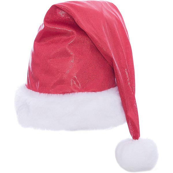 Колпак новогодний (красный), ВестификаДетские шляпы и колпаки<br>Колпак новогодний (красный), Вестифика - это возможность превратить праздник в необычное, яркое шоу.<br>Красный новогодний колпак – это яркий колпак, украшенный блестящими пайетками. Колпак с меховым белым отворотом и небольшим белым помпоном очень красивый и удобный аксессуар. Новогодний колпак развеселит вас и ваших друзей, с ним даже обычная одежда превратится в новогодний наряд!<br><br>Дополнительная информация:<br><br>- Комплект: колпак с помпоном<br>- Материал: парча, мех искусственный<br>- Цвет: красный<br>- Размер: универсальный<br>- Длина колпака до помпона: 50 см.<br>- Диаметр колпака: 60 см.<br><br>Колпак новогодний (красный), Вестифика можно купить в нашем интернет-магазине.<br><br>Ширина мм: 500<br>Глубина мм: 600<br>Высота мм: 15<br>Вес г: 90<br>Возраст от месяцев: 120<br>Возраст до месяцев: 216<br>Пол: Женский<br>Возраст: Детский<br>SKU: 4399569
