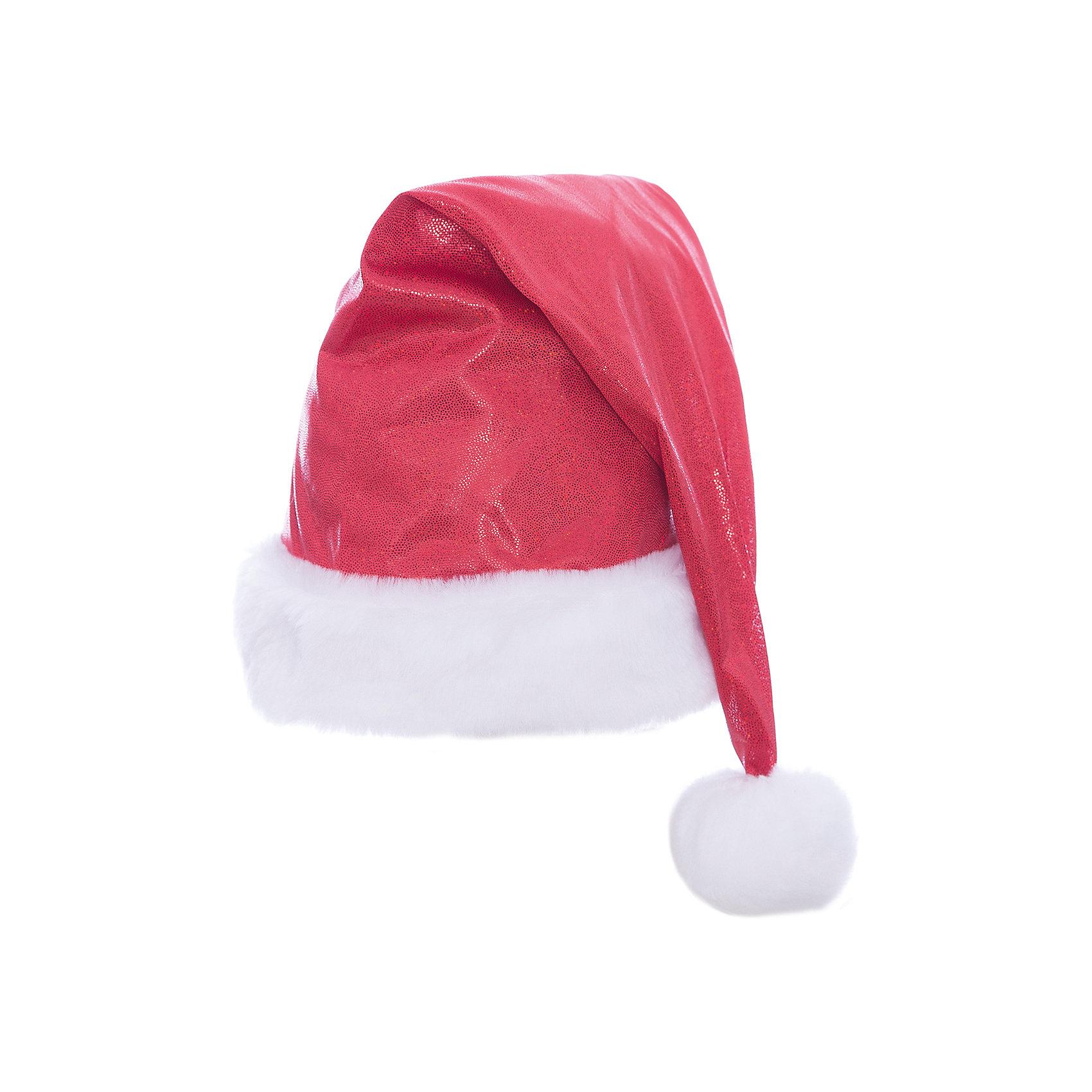 Колпак новогодний (красный), ВестификаКарнавальные костюмы и аксессуары<br>Колпак новогодний (красный), Вестифика - это возможность превратить праздник в необычное, яркое шоу.<br>Красный новогодний колпак – это яркий колпак, украшенный блестящими пайетками. Колпак с меховым белым отворотом и небольшим белым помпоном очень красивый и удобный аксессуар. Новогодний колпак развеселит вас и ваших друзей, с ним даже обычная одежда превратится в новогодний наряд!<br><br>Дополнительная информация:<br><br>- Комплект: колпак с помпоном<br>- Материал: парча, мех искусственный<br>- Цвет: красный<br>- Размер: универсальный<br>- Длина колпака до помпона: 50 см.<br>- Диаметр колпака: 60 см.<br><br>Колпак новогодний (красный), Вестифика можно купить в нашем интернет-магазине.<br><br>Ширина мм: 500<br>Глубина мм: 600<br>Высота мм: 15<br>Вес г: 90<br>Возраст от месяцев: 120<br>Возраст до месяцев: 216<br>Пол: Женский<br>Возраст: Детский<br>SKU: 4399569