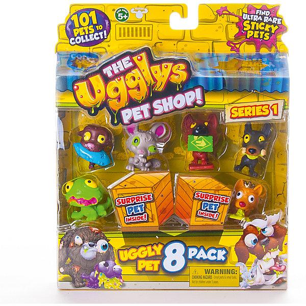 8 фигурок, Ugglys Pet Shop, в ассортиментеИгровые наборы с фигурками<br>8 фигурок, Ugglys Pet Shop, в ассортименте – это настоящая находка для юной любительницы хулиганских питомцев.<br>Большой блистер с 8 питомцами из серии Хулиганские питомцы. Шесть из 8 фигурок видно сразу, 2 скрыты в картонных ящиках и попадаются случайно. Это неплохая возможность пополнить свою коллекцию Хулиганских животных редкой или супер редкой миниатюрой. Всего коллекция состоит из 101 фигурки питомцев, застуканных в не самый простой момент их жизни. Гротескные хулиганские игрушки изображают больных, грязных и просто уродливых питомцев. И тем не менее, в них есть некое своеобразное очарование. В серии встречаются и собачки, и кошечки, и птички и, даже, жабы! Также есть возможность получения уникальной золотой собачьей «каки». Все фигурки изготовлены из экологически безопасных материалов, приятных наощупь.<br><br>Дополнительная информация:<br><br>- В наборе: 8 фигурок<br>- Материал: высококачественная пластмасса, прорезиненный материал<br>- Размер упаковки: 190х230х45 мм.<br>- Вес: 254 гр.<br><br>- ВНИМАНИЕ! Данный артикул представлен в разных вариантах исполнения. К сожалению, заранее выбрать определенный вариант невозможно. При заказе нескольких наборов возможно получение одинаковых<br><br>8 фигурок, Ugglys Pet Shop, в ассортименте можно купить в нашем интернет-магазине.<br><br>Ширина мм: 190<br>Глубина мм: 230<br>Высота мм: 45<br>Вес г: 254<br>Возраст от месяцев: 60<br>Возраст до месяцев: 144<br>Пол: Унисекс<br>Возраст: Детский<br>SKU: 4401527