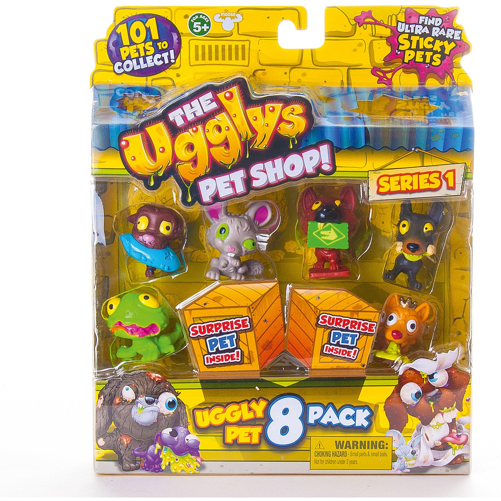 8 фигурок, Ugglys Pet Shop, в ассортиментеФигурки героев<br>8 фигурок, Ugglys Pet Shop, в ассортименте – это настоящая находка для юной любительницы хулиганских питомцев.<br>Большой блистер с 8 питомцами из серии Хулиганские питомцы. Шесть из 8 фигурок видно сразу, 2 скрыты в картонных ящиках и попадаются случайно. Это неплохая возможность пополнить свою коллекцию Хулиганских животных редкой или супер редкой миниатюрой. Всего коллекция состоит из 101 фигурки питомцев, застуканных в не самый простой момент их жизни. Гротескные хулиганские игрушки изображают больных, грязных и просто уродливых питомцев. И тем не менее, в них есть некое своеобразное очарование. В серии встречаются и собачки, и кошечки, и птички и, даже, жабы! Также есть возможность получения уникальной золотой собачьей «каки». Все фигурки изготовлены из экологически безопасных материалов, приятных наощупь.<br><br>Дополнительная информация:<br><br>- В наборе: 8 фигурок<br>- Материал: высококачественная пластмасса, прорезиненный материал<br>- Размер упаковки: 190х230х45 мм.<br>- Вес: 254 гр.<br><br>- ВНИМАНИЕ! Данный артикул представлен в разных вариантах исполнения. К сожалению, заранее выбрать определенный вариант невозможно. При заказе нескольких наборов возможно получение одинаковых<br><br>8 фигурок, Ugglys Pet Shop, в ассортименте можно купить в нашем интернет-магазине.<br><br>Ширина мм: 190<br>Глубина мм: 230<br>Высота мм: 45<br>Вес г: 254<br>Возраст от месяцев: 60<br>Возраст до месяцев: 144<br>Пол: Унисекс<br>Возраст: Детский<br>SKU: 4401527