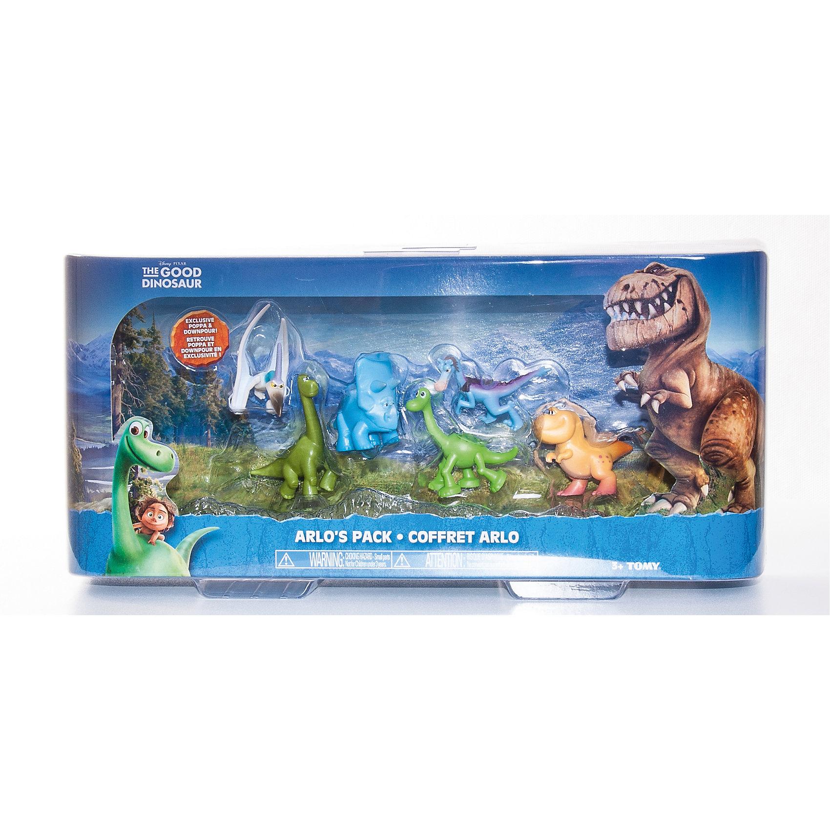 Набор из 6 мини-фигурок, Хороший динозаврНабор из 6 мини-фигурок, Хороший динозавр – это замечательные игровые фигурки, изображающие героев мультфильма Хороший динозавр.<br>Набор мини-фигурок Хороший динозавр без сомнения понравится вашему ребенку, ведь теперь он сможет пережить самые яркие моменты мультфильма с его героями или отправиться на новые приключения. В набор входят 6 фигурок героев мультика с подвижными частями тела: Поппа, Птеродактиль, Арло, Нэш, Раптор, Трицератопс. Фигурки изготовлены из высококачественных нетоксичных материалов, абсолютно безопасных для Вашего малыша. Ваш ребенок часами будет играть с фигурками, придумывая различные истории.<br><br>Дополнительная информация:<br><br>- В наборе: 6 мини-фигурок<br>- Средняя высота фигурки: 4 см.<br>- Материал: пластик<br>- Размер упаковки: 32 x 9 x 15,5 см.<br>- Вес: 288 гр.<br><br>Набор из 6 мини-фигурок, Хороший динозавр можно купить в нашем интернет-магазине.<br><br>Ширина мм: 320<br>Глубина мм: 155<br>Высота мм: 90<br>Вес г: 288<br>Возраст от месяцев: 36<br>Возраст до месяцев: 84<br>Пол: Унисекс<br>Возраст: Детский<br>SKU: 4401535