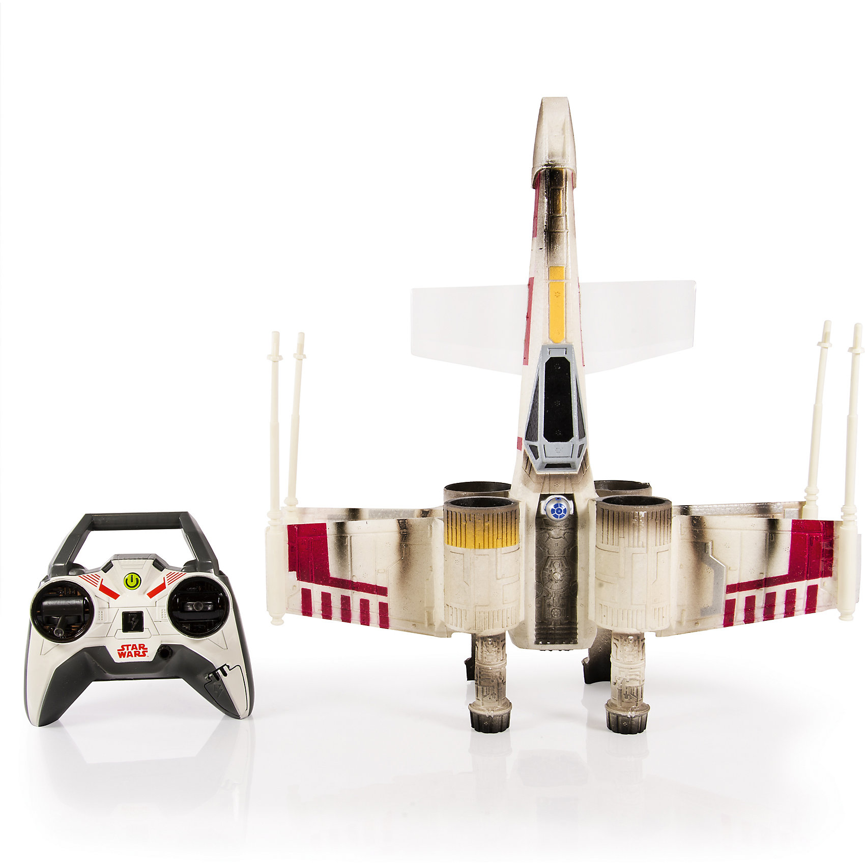 Звёздный истребитель, Air Hogs, Звёздные войныКоллекционные и игровые фигурки<br>Звёздный истребитель, Air Hogs, Звёздные войны – это знаменитый истребитель X-Wing из вселенной Звёздных войн.<br>Истребитель X-Wing, на котором Люк Скайуокер уничтожил Звезду Смерти - это идеальный баланс между скоростью, маневренностью и огневой мощью. Его радиоуправляемая модель вооружением похвастаться не может, но вот скорости и маневренности у нее - хоть отбавляй. Корпус игрушки изготовлен из пенопласта и ударопрочного пластика, что делает ее необычайно легкой и маневренной. Уникальной особенностью модели является то, что винты, поддерживающие истребитель в воздухе, спрятаны в корпусах турбин. Поэтому создаётся впечатление, что истребитель оснащён реактивной тягой. В модели установлен мощный передатчик, что позволяет управлять истребителем на дистанции до 100 метров.<br><br>Дополнительная информация:<br><br>- В наборе: истребитель, пульт<br>- Размер: 35-40 см.<br>- Батарейки: 6 х AA/LR6 1.5V (в комплект не входят)<br>- Материал: пенопласт, пластик, металл<br>- Дальность действия: 100 м.<br>- Частота р/у: 2.4 ГГц.<br>- Размер упаковки: 46 х 38 х 15 см.<br>- Вес: 1320 гр.<br><br>Звёздный истребитель, Air Hogs, Звёздные войны можно купить в нашем интернет-магазине.<br><br>Ширина мм: 460<br>Глубина мм: 380<br>Высота мм: 150<br>Вес г: 1320<br>Возраст от месяцев: 72<br>Возраст до месяцев: 144<br>Пол: Мужской<br>Возраст: Детский<br>SKU: 4401542