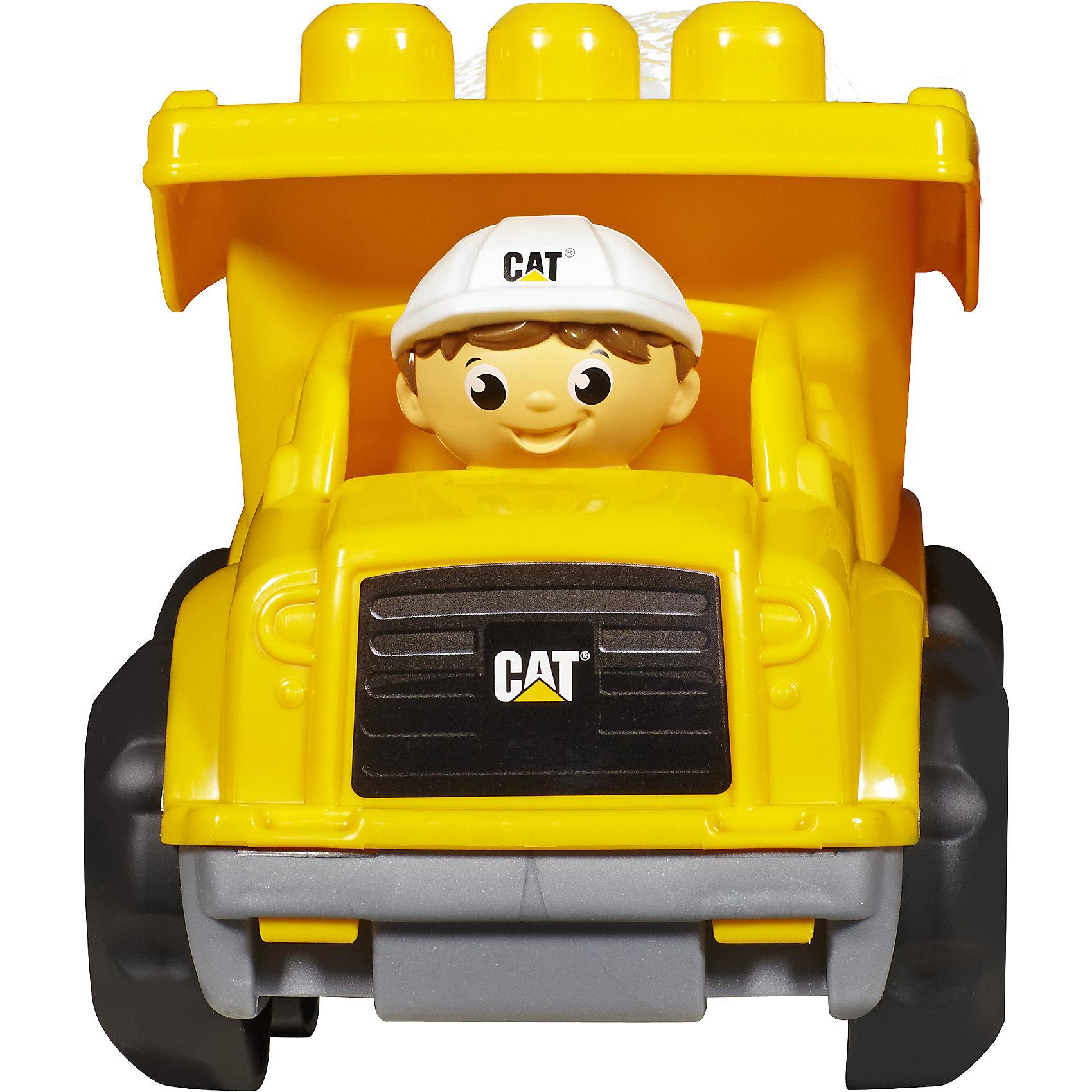 Маленький самосвал CAT, MEGA BLOKSПластмассовые конструкторы<br>Маленький самосвал CAT, MEGA BLOKS (МЕГА БЛОКС) – это яркий самосвал, который понравится малышам.<br>Этот мини самосвал станет надёжным помощником вашего маленького строителя. В комплекте с самосвалом предусмотрены разноцветные блоки конструктора, которые можно погрузить в кузов машинки, либо закрепить на ее верхнюю часть. Кузов самосвал можно поднимать и опускать, чтобы имитировать процесс выгрузки. За руль транспортного средства можно поместить фигурку водителя из набора. Машинка быстро ездит благодаря широким устойчивым колесам. Самосвал выполнен в ярких цветовых оттенках, изготовлен из прочного пластика высокого качества, окрашен безопасными устойчивыми красителями.<br><br>Дополнительная информация:<br><br>- В наборе: самосвал, одна фигурка рабочего, шесть блоков<br>- Материал: безопасный пластик<br>- Размер упаковки: 18 x 23,5 x 15 см.<br>- Вес: 500 гр.<br><br>Маленький самосвал CAT, MEGA BLOKS (МЕГА БЛОКС) можно купить в нашем интернет-магазине.<br><br>Ширина мм: 234<br>Глубина мм: 225<br>Высота мм: 182<br>Вес г: 504<br>Возраст от месяцев: 12<br>Возраст до месяцев: 48<br>Пол: Унисекс<br>Возраст: Детский<br>SKU: 4402776