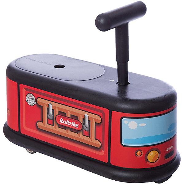 Каталка Пожарная машина, ItaltrikeКаталки для малышей<br>Каталка Пожарная машина, Italtrike (Италтрайк) - это стильная, удобная и продуманная каталка с оригинальным дизайном.<br>Яркая каталка Пожарная машина от Italtrike (Италтрайк) - великолепный транспорт для малышей, который доставит им множество веселых минут. Каталка выполнена в виде красочной пожарной машины. Удобное сидение позволит малышу комфортно сидеть при движении, а ручка - контролировать свои перемещения. Маленькие, но очень надежные колеса обеспечивают легкое управление. Передние колеса каталки вращаются на 360 градусов, что делает её очень маневренной и удобной для перемещения. Задние колеса стационарные. Колеса каталки прорезинены, это позволяет ей ездить очень тихо и не портить поверхность пола. Каталка не перевернётся, за счёт нижних бортиков она очень устойчива, а сидение и руль имеют шероховатую поверхность и не скользят. Под сидением есть пространство для игрушек. На каталке можно перемещаться, отталкиваясь ножками или же ездить, закинув их наверх. Каталка изготовлена из высокопрочного пластика.<br><br>Дополнительная информация:<br><br>- Выдерживает нагрузку до 50 кг<br>- Высота сиденья: 21 см.<br>- Длина всей каталки: 48 см.<br>- Материал: пластик<br>- Упаковка: подарочная коробка<br>- Размер упаковки: 49 x 22 х 21 см.<br>- Вес: 2,5 кг.<br><br>Каталку Пожарная машина, Italtrike (Италтрайк) можно купить в нашем интернет-магазине.<br>Ширина мм: 490; Глубина мм: 220; Высота мм: 210; Вес г: 2500; Возраст от месяцев: 12; Возраст до месяцев: 72; Пол: Унисекс; Возраст: Детский; SKU: 4403117;