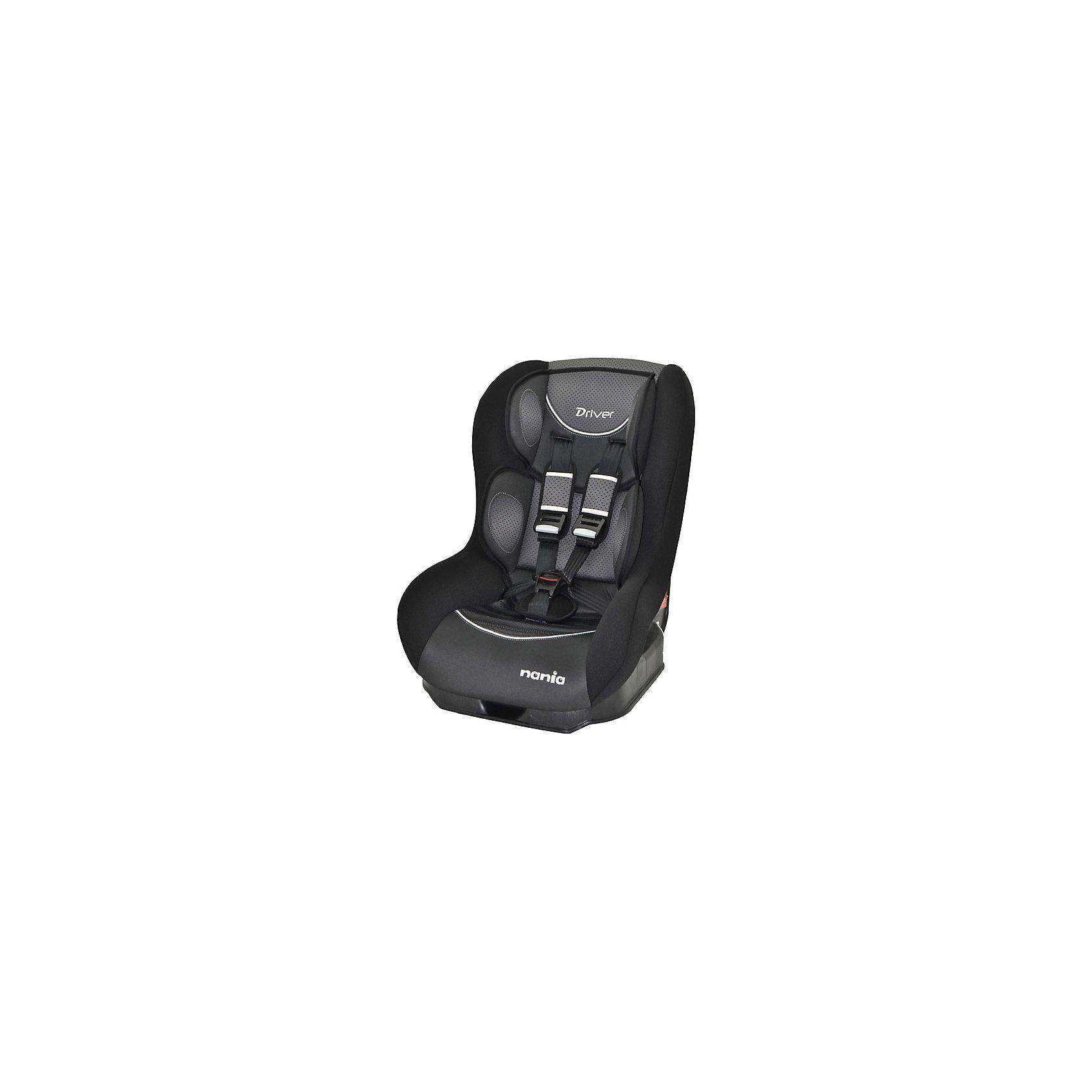 Автокресло Nania Driver FST 0-18 кг, graphic blackГруппа 0+, 1 (До 18 кг)<br>Автокресло Driver FST, Nania - комфортная надежная модель, которая сделает поездку Вашего ребенка приятной и безопасной. Серия FIRST - это базовая версия автокресла с простым дизайном и высоким европейским качеством. Сиденье кресла имеет удобную анатомическую форму, что обеспечивает комфорт во время длительных поездок. Для новорожденных предусмотрена специальная мягкая вкладка, которая фиксирует голову, шею и тело ребенка в правильном положении. Наклон спинки можно регулировать в 5 положениях. Кресло оснащено регулируемыми 5-точечными ремнями безопасности с 3-мя уровнями регулировки по высоте и мягкими плечевыми накладками. Каркас из ударопрочного полипропилена, усиленные боковины и дополнительная прослойка из полистирола, поглощающая удары, уберегут ребёнка от серьезных травм. <br><br>Автокресло легко и надежно фиксируется при помощи штатных ремней безопасности. Для малышей весом до 10 кг. автокресло устанавливается на заднем сиденье лицом против движения авто, при весе ребенка от 10 до 18 кг. кресло устанавливается лицом по ходу движения автомобиля. Кресло изготовлено из высококачественных материалов, тканевую обивку можно снимать и стирать вручную при комнатной температуре. Соответствует Европейскому стандарту безопасности ЕСЕ R44/04. Рассчитано на детей от 0 до 3-4 лет, весом 0-18 кг.<br><br>  Дополнительная информация:<br><br>- Цвет: graphic black (черный/серый).<br>- Материал: 100% полиэстер, пластик.<br>- Серия: 0/1 (0-18) кг.<br>- Внешние размеры: 52 х 46 х 60 см.<br>- Вес: 5,7 кг.<br><br>Автокресло Driver FST, 0-18 кг., Nania, graphic black, можно купить в нашем интернет-магазине.<br><br>Ширина мм: 460<br>Глубина мм: 520<br>Высота мм: 600<br>Вес г: 12490<br>Возраст от месяцев: 0<br>Возраст до месяцев: 36<br>Пол: Унисекс<br>Возраст: Детский<br>SKU: 4405890