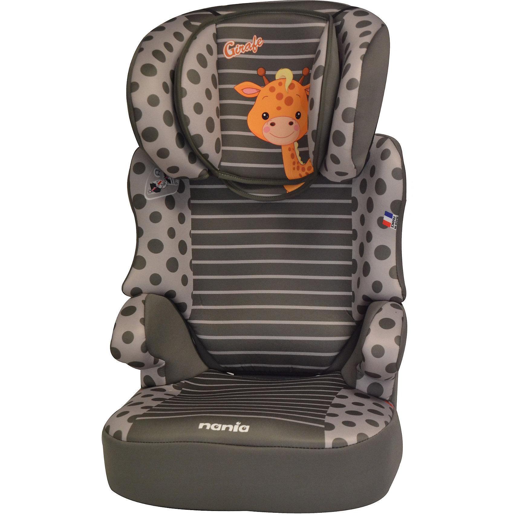 Автокресло Befix SP, 15-36 кг., Nania, girafeАвтокресло BeFix SP – это, фактически, два кресла в одном. Благодаря изменению высоты спинки, которая снимается и точной регулировке подголовника детям от 3 до 12 лет будет очень комфортно путешествовать в нем. Анатомически сформированное автокресло BeFix SP с мягкой подкладкой обеспечивает удобство, даже во время долговременных путешествий. Конструкция кресла обеспечивает идеально правильное положение автомобильного ремня на теле ребёнка. Усиленная боковая защита SP – Side Protection убережёт ребёнка от серьезный травм во время бокового столкновения. <br>Вы без труда закрепите кресло в салоне Вашего автомобиля с помощью штатных ремней безопасности. Когда малыш подрастёт, Вы легко снимите спинку и будете использовать кресло в качестве бустера. Кресло очень легко содержать в чистоте, все тканые части можно снять и постирать. <br><br>Дополнительная информация:<br><br>- Группа: 2/3 (15-36) кг, примерно от 3 до 12 лет;<br>- Имеет европейский сертификат безопасности по строжайшим нормам ЕСЕ R44/04; <br>- Подголовник кресла регулируется в шести разных положениях по высоте;<br>- SP - side protection - улучшенная боковая защита;<br>- Кресло крепится штатными ремнями автомобиля;<br>- Регулируемая по высоте съемная спинка и бустер;<br>- Обеспечивает правильное расположение автомобильного ремня;<br>- Анатомически правильно сформированное сидение с мягкой подкладкой;<br>- Съемные чехлы (возможна ручная стирка при температуре 30°);<br>- Размеры: 40 х 47 х 70 см;<br>- Вес: 5 кг.<br><br>Автокресло Befix SP, 15-36 кг., Nania (Наниа), girafe, можно купить  в нашем интернет-магазине.<br><br>Ширина мм: 450<br>Глубина мм: 500<br>Высота мм: 710<br>Вес г: 8780<br>Возраст от месяцев: 48<br>Возраст до месяцев: 144<br>Пол: Унисекс<br>Возраст: Детский<br>SKU: 4405895