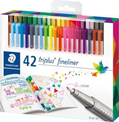 Набор капиллярных ручек Triplus, 42 цвета, яркие цвета, Staedtler, артикул:4406863 - Канцтовары