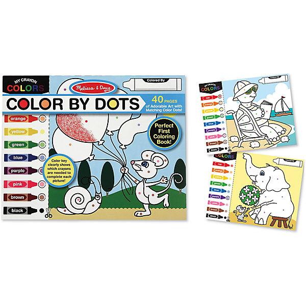 Набор Раскрась по цветамРаскраски по номерам<br>На страницах этой раскраски дети увидят оригинальные рисунки и веселые сюжеты, которые приведут в восторг любого ребенка. На каждой страничке слева нарисованы разноцветные фломастеры, области раскрашивания на рисунке помечены цветными точками-подсказками, которые показывают каким цветом надо закрашивать. В раскраске 40 страниц, рисунки на которых постепенно усложняются. Раскраска учит распознавать цвета, развивает мелкую моторику и внимание. <br><br>Дополнительная информация:<br><br>- Материал: бумага, картон.<br>- Размер: 28х36 см.<br>- Количество страниц: 40. <br><br>Набор Раскрась по цветам можно купить в нашем магазине.<br>Ширина мм: 280; Глубина мм: 360; Высота мм: 10; Вес г: 521; Возраст от месяцев: 36; Возраст до месяцев: 72; Пол: Унисекс; Возраст: Детский; SKU: 4407119;