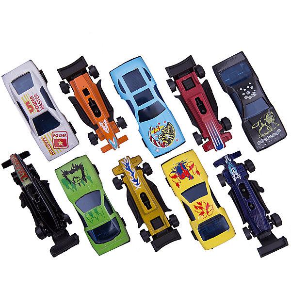 Набор из 10 машинокМашинки<br>С этим замечательным набором ты сможет устроить захватывающие гонки. Целых десять участников и все такие разные, быстрые и яркие! Машинки выполнены из металла, раскрашены экологичными, безопасными для детей красителями.<br><br>Дополнительная информация:<br><br>- 10 машинок в наборе.<br>- Материал: металл, пластик.<br>- Размер упаковки: 12х2х17,5 см.<br>- Подвижные колеса.<br>- Масштаб: 1:64.<br><br>Набор из 10 машинок можно купить в нашем магазине.<br>Ширина мм: 430; Глубина мм: 400; Высота мм: 630; Вес г: 120; Возраст от месяцев: 36; Возраст до месяцев: 84; Пол: Мужской; Возраст: Детский; SKU: 4408243;
