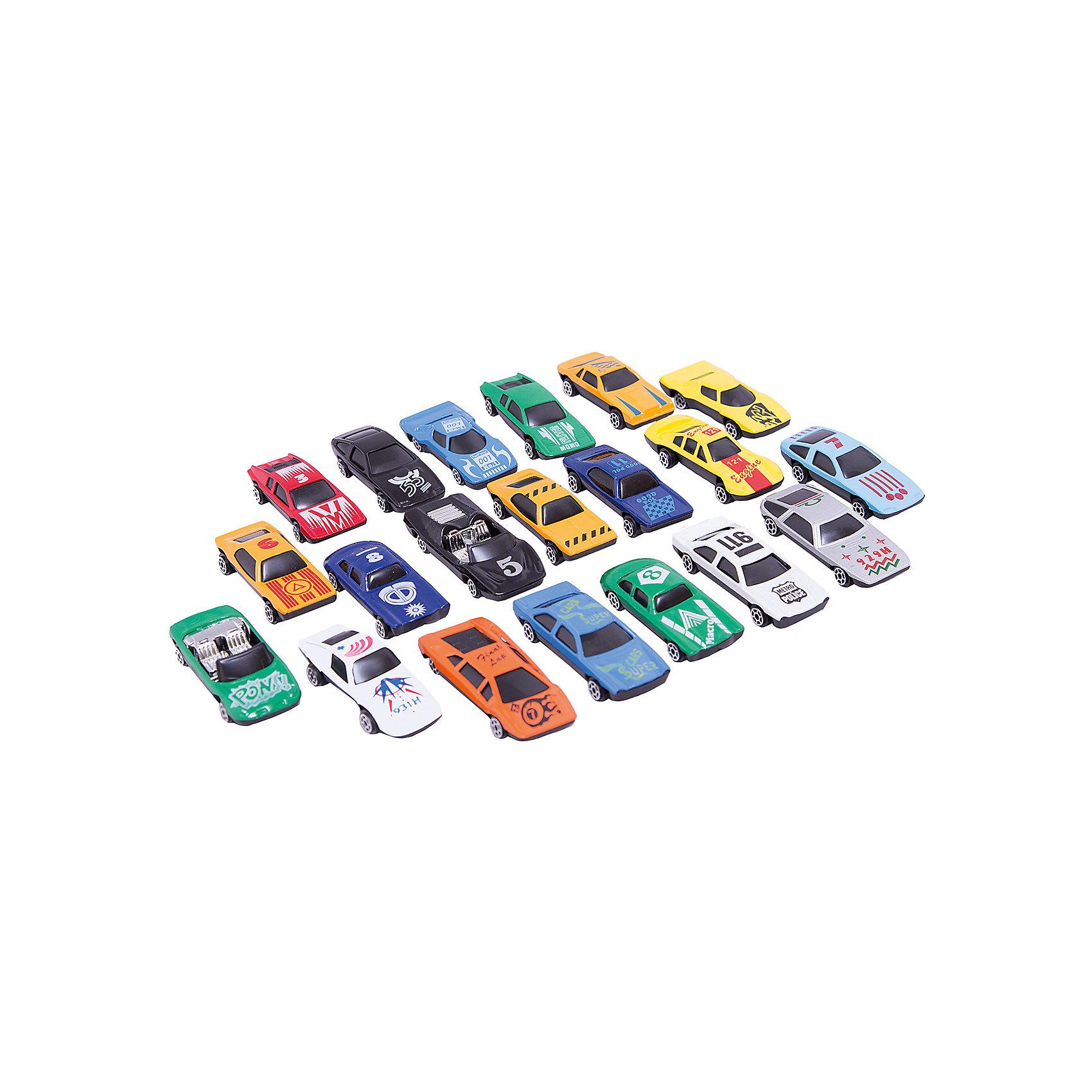Набор из 20 машинокИгровые наборы<br>С этим замечательным набором ты сможет устроить захватывающие гонки. Целых двадцать участников и все такие разные, быстрые и яркие! Машинки выполнены из металла, раскрашены экологичными, безопасными для детей красителями.<br><br>Дополнительная информация:<br><br>- 20 машинок в наборе.<br>- Материал: металл, пластик.<br>- Размер упаковки: 23х2х21 см.<br>- Подвижные колеса.<br>- Масштаб: 1:64.<br><br>Набор из 20 машинок можно купить в нашем магазине.<br><br>Ширина мм: 380<br>Глубина мм: 380<br>Высота мм: 630<br>Вес г: 240<br>Возраст от месяцев: 36<br>Возраст до месяцев: 84<br>Пол: Мужской<br>Возраст: Детский<br>SKU: 4408246